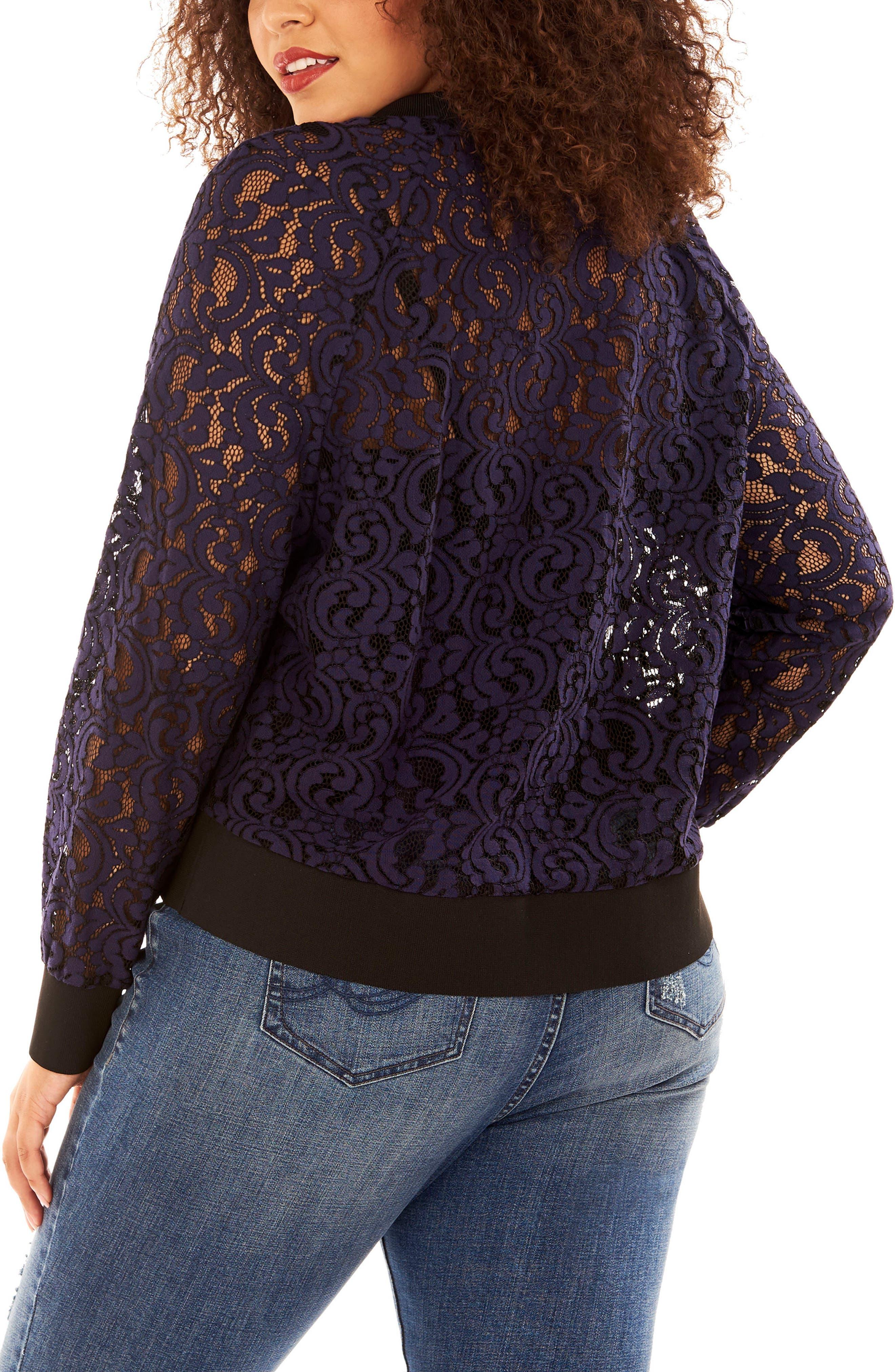 Lace Sweatshirt,                             Alternate thumbnail 4, color,