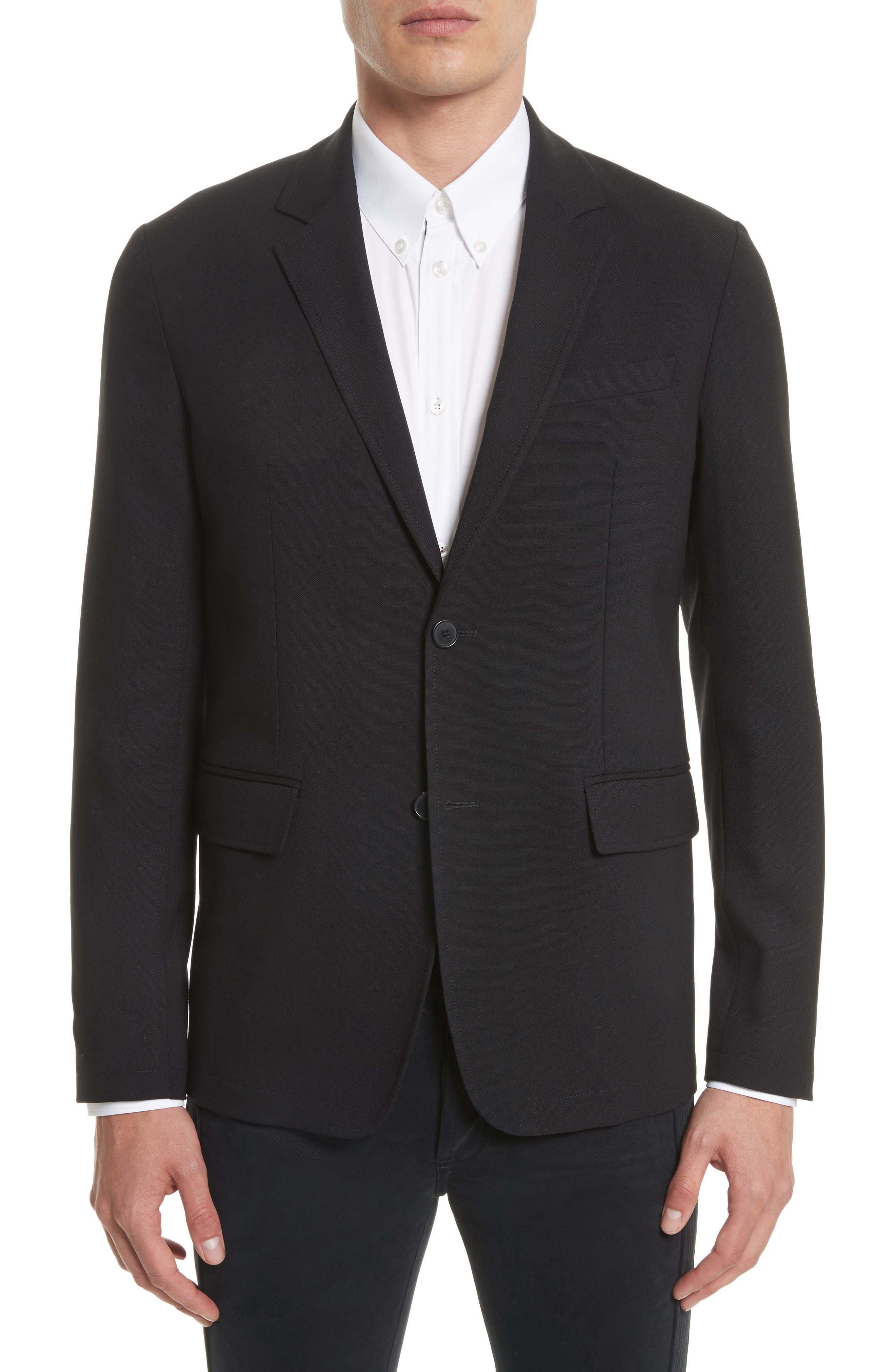 Star Tape Stretch Wool Jacket,                             Main thumbnail 1, color,