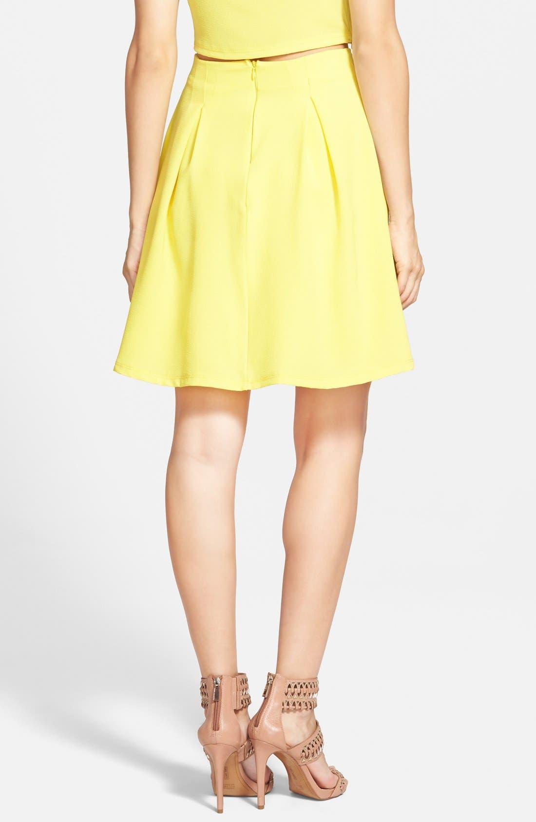 Woven A-Line Skirt,                             Alternate thumbnail 3, color,                             700