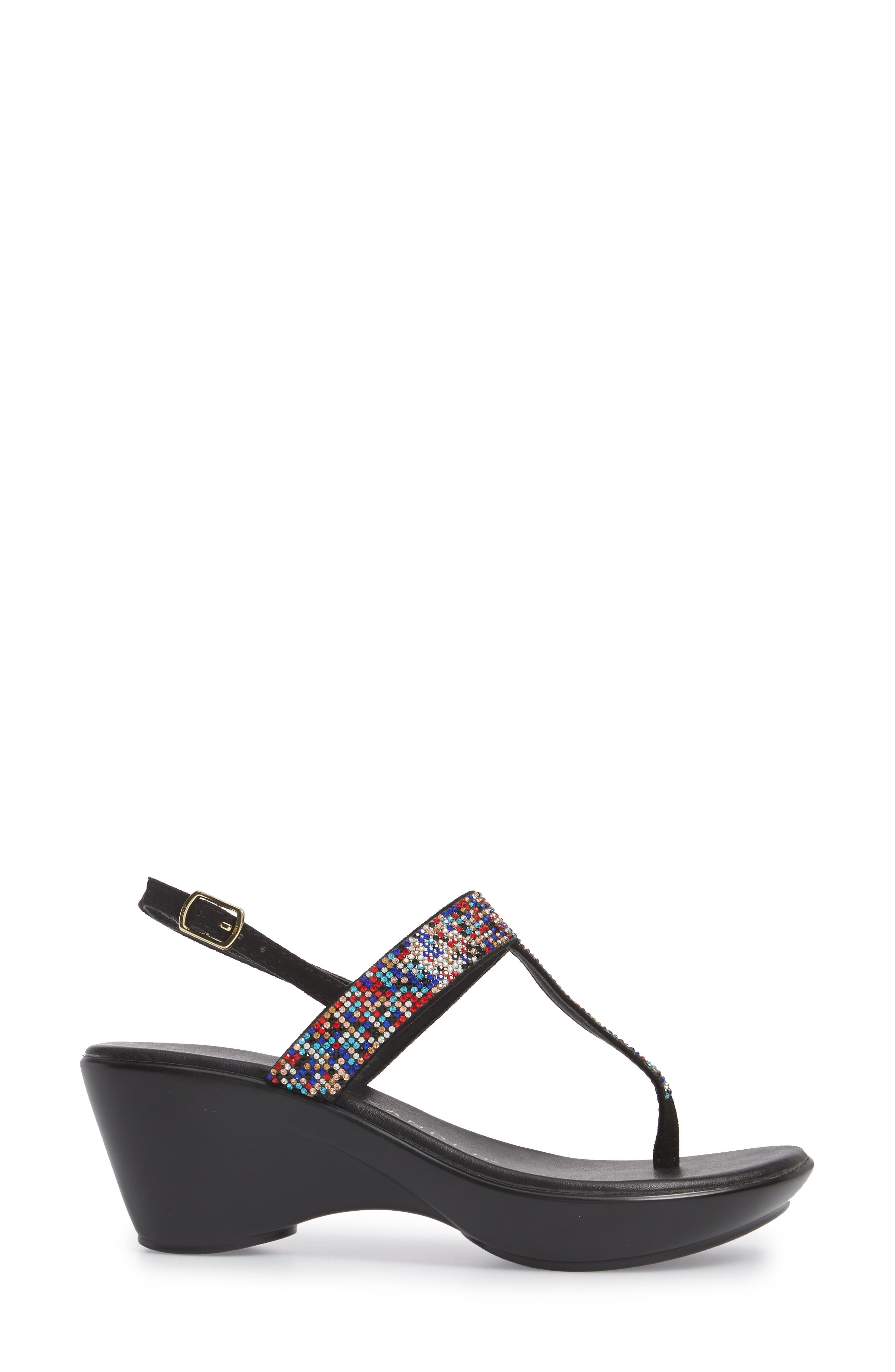 Dakkota Wedge Sandal,                             Alternate thumbnail 3, color,                             001