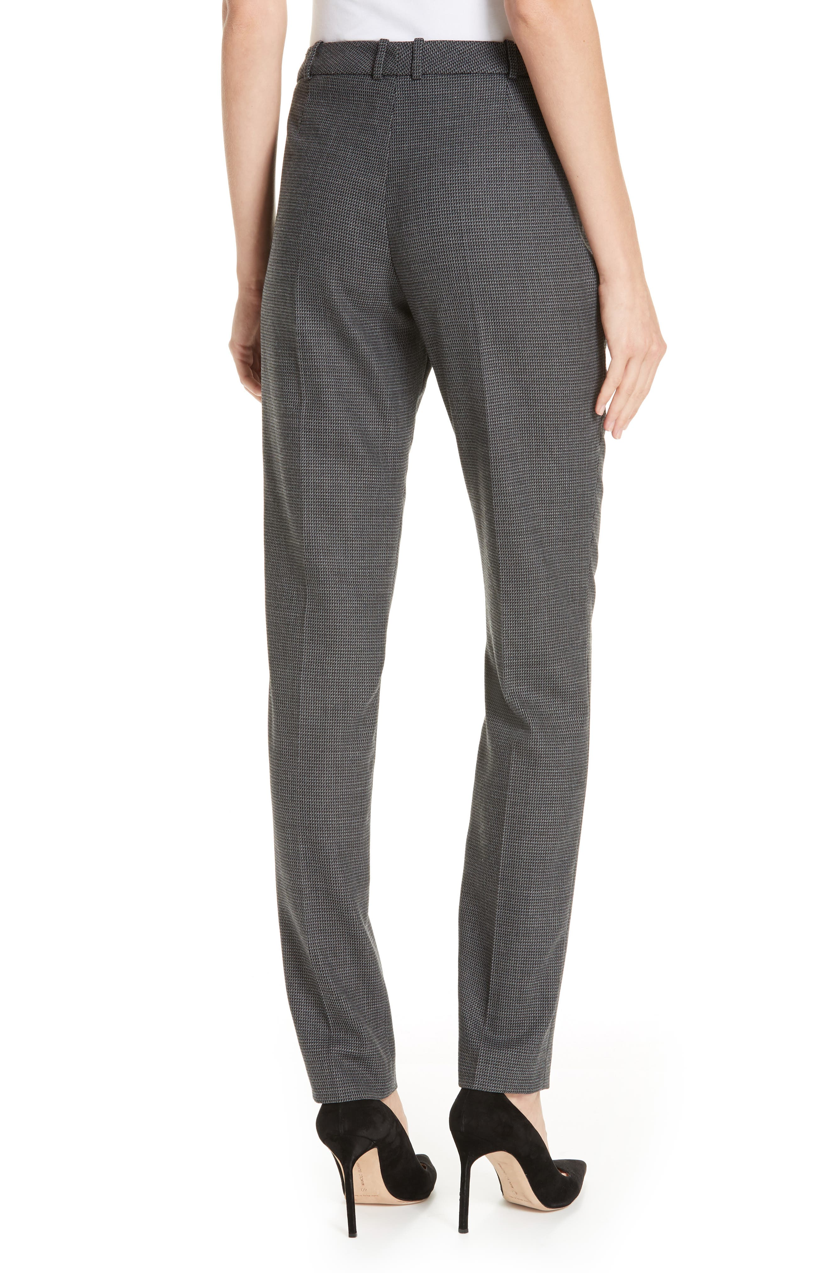Tilunana Geometric Stretch Wool Blend Suit Trousers,                             Alternate thumbnail 2, color,                             GREY FANTASY
