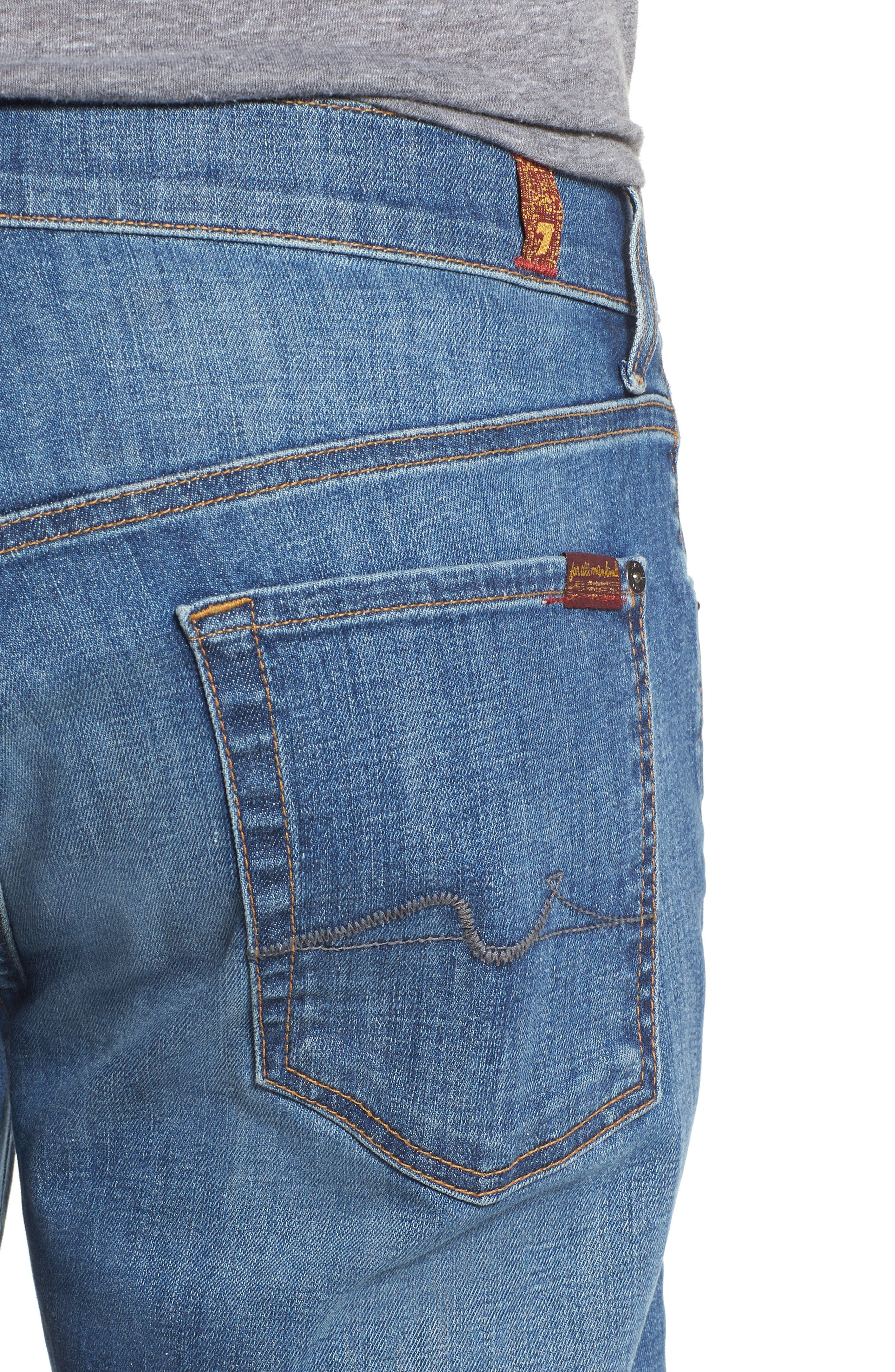 The Standard Straight Fit Jeans,                             Alternate thumbnail 4, color,                             401