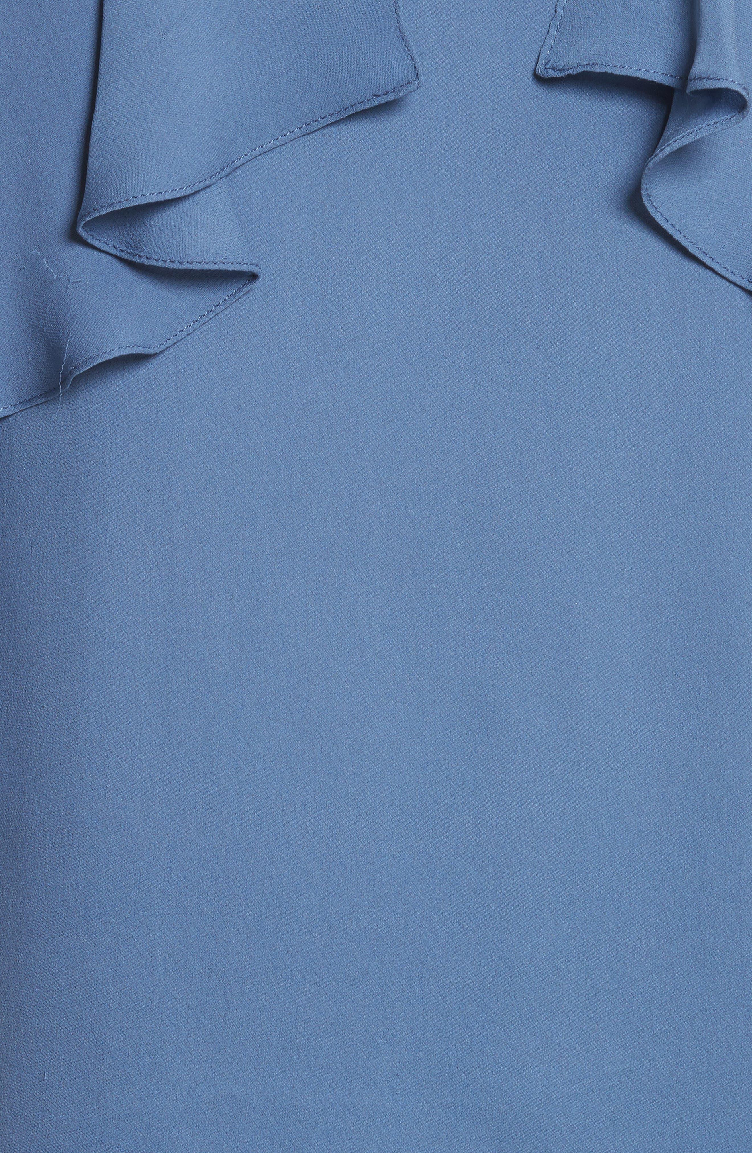 Idalla Cold Shoulder Ruffle Silk Blouse,                             Alternate thumbnail 5, color,                             401