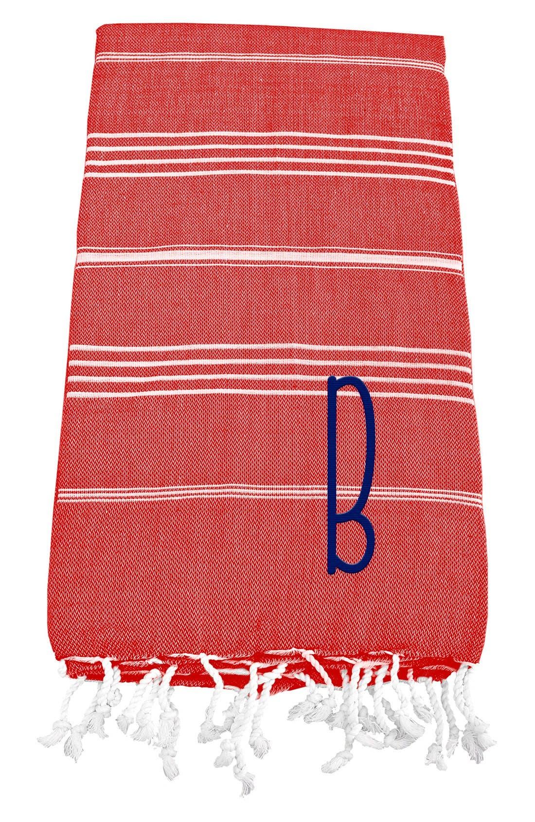Monogram Turkish Cotton Towel,                             Main thumbnail 111, color,