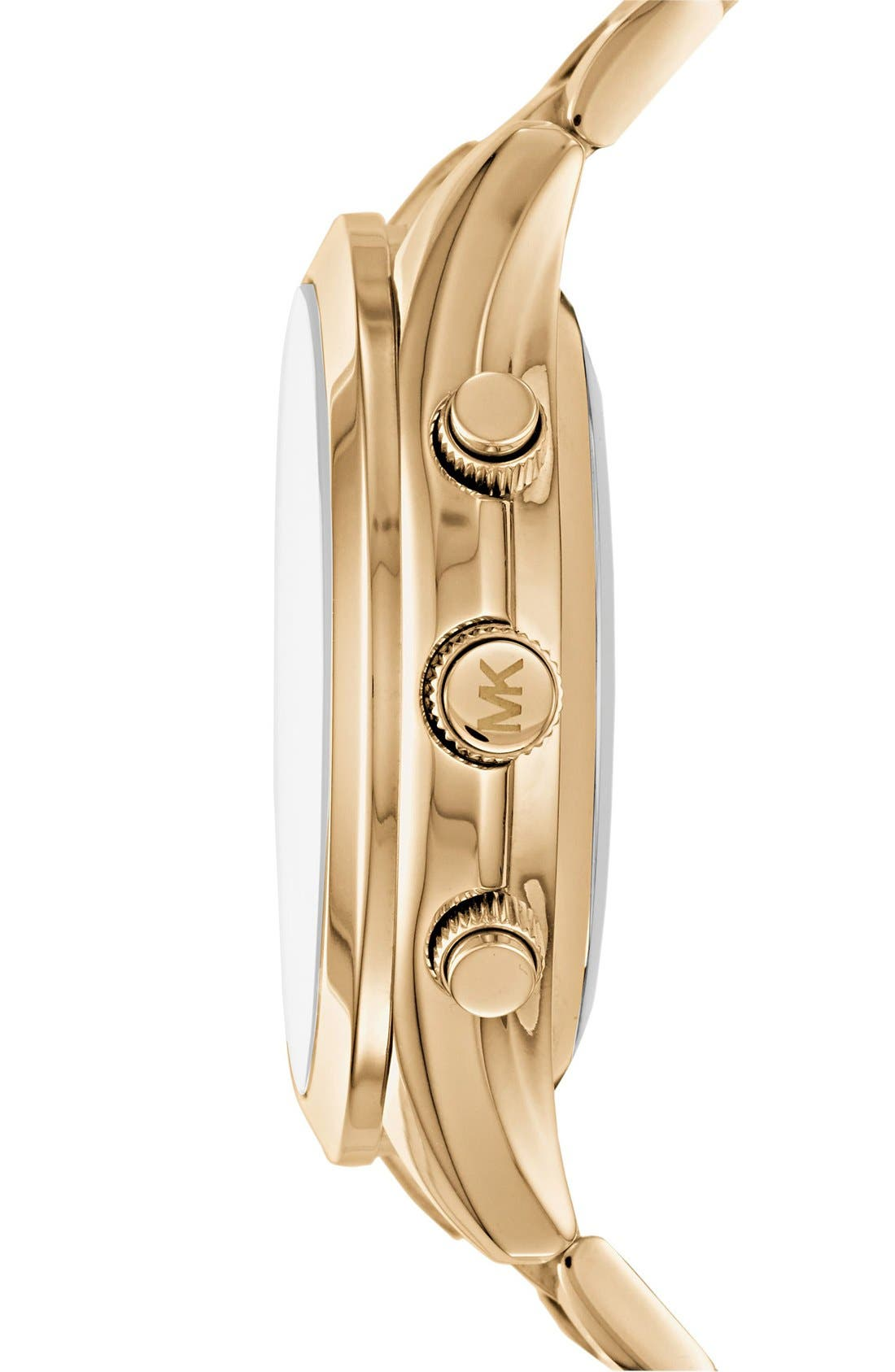 MICHAEL Michael Kors Slim Runway Smart Watch, 42mm,                             Alternate thumbnail 3, color,                             GOLD
