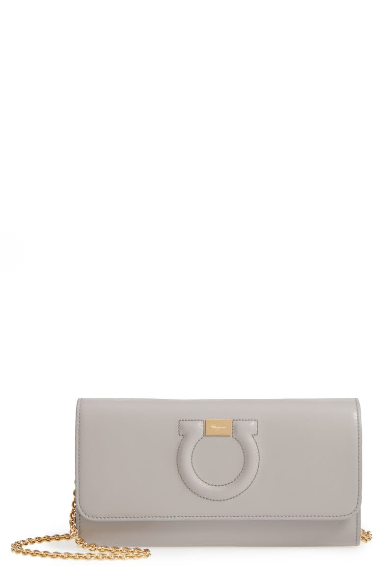 SALVATORE FERRAGAMO City Quilted Gancio Leather Wallet on a Chain, Main,  color, 077 abd0dec82d