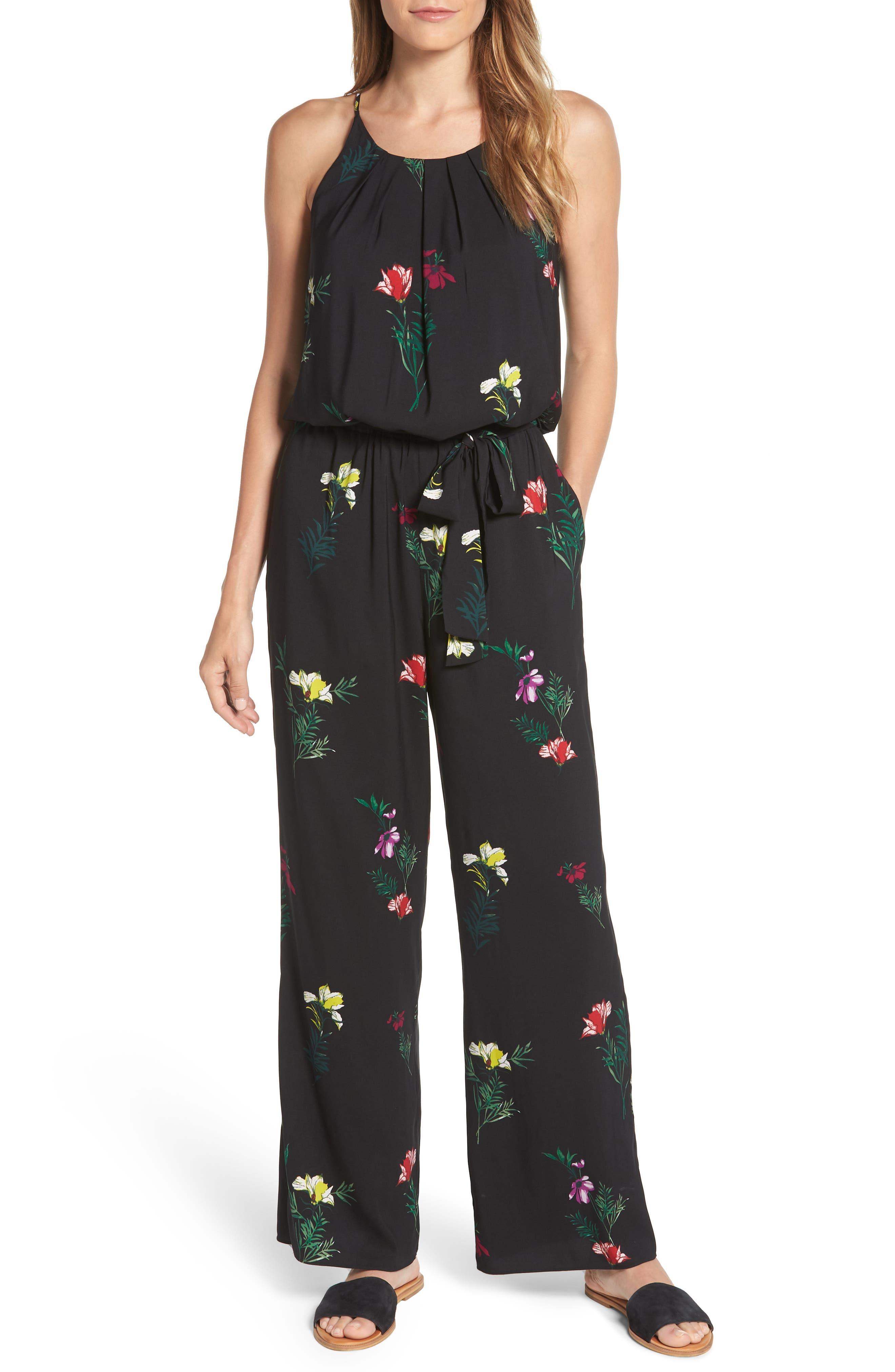 Tropical Garden Jumpsuit,                         Main,                         color, 001