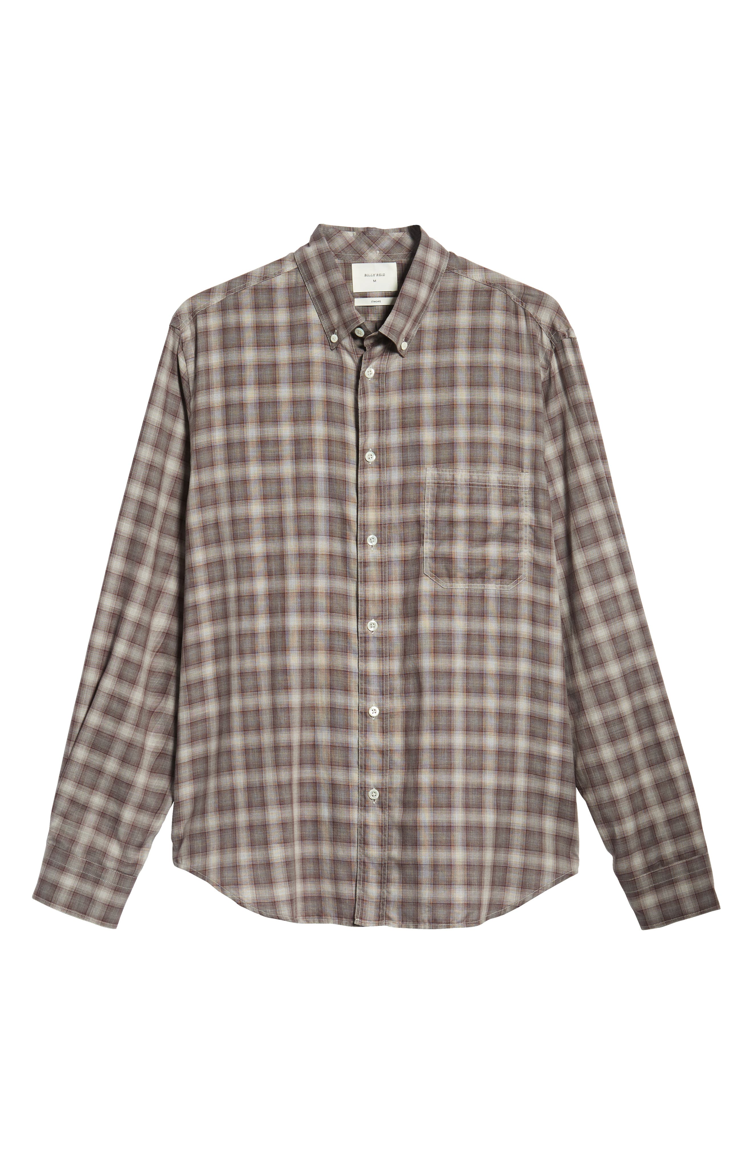 Tuscumbia Regular Fit Plaid Sport Shirt,                             Alternate thumbnail 5, color,                             930
