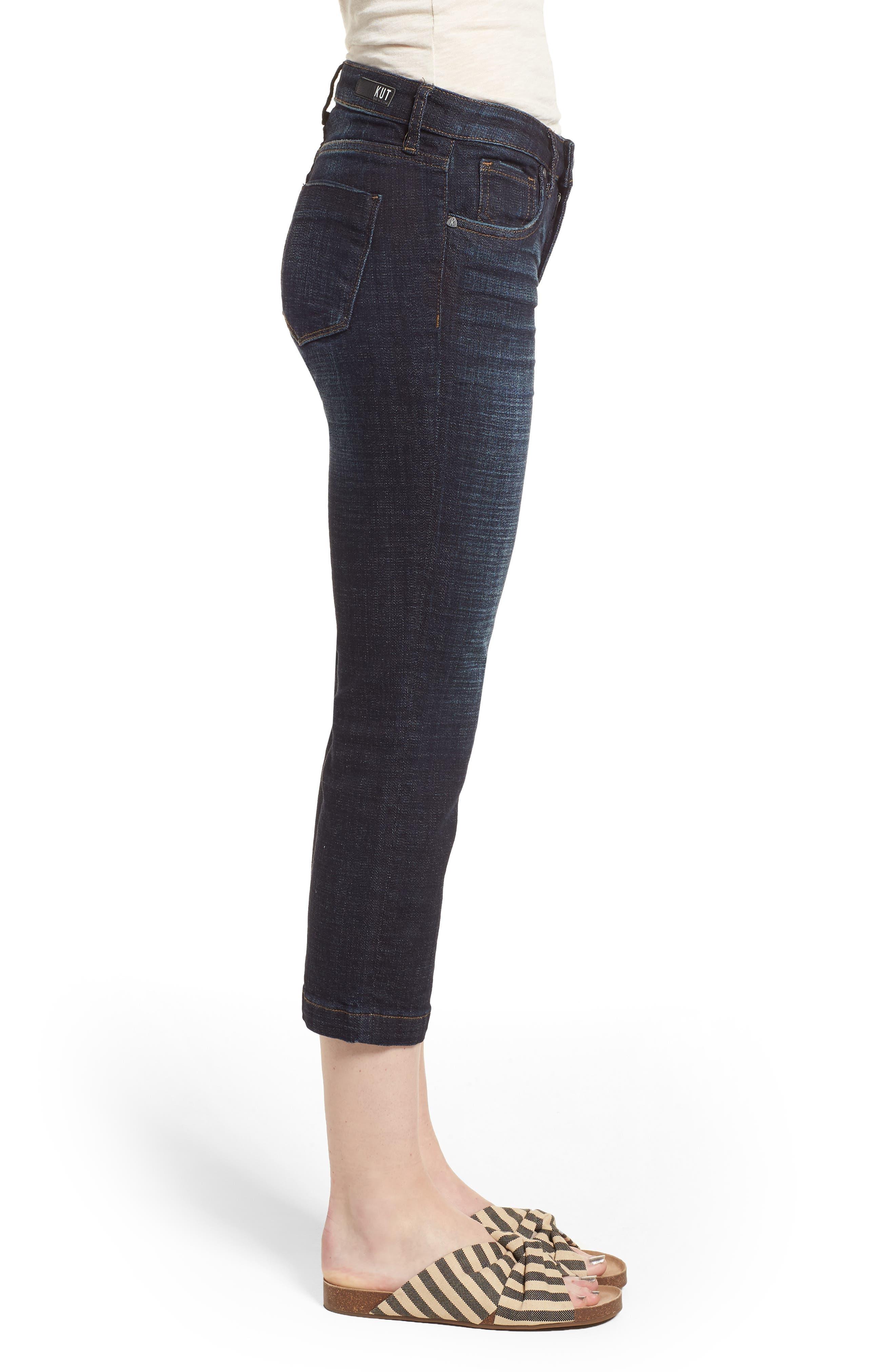 Lauren Crop Jeans,                             Alternate thumbnail 3, color,                             410