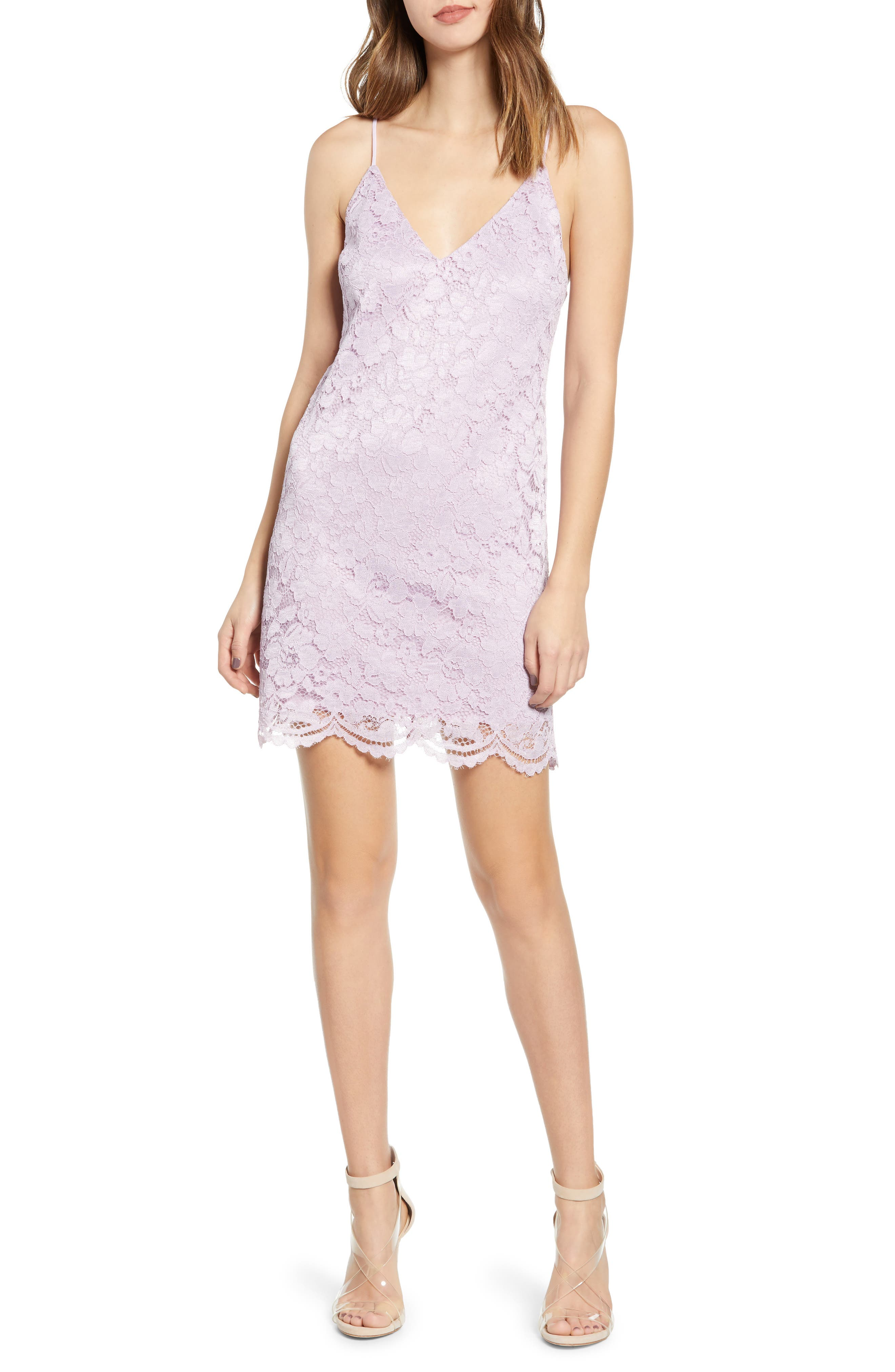 Leith Lace Slipdress, Purple