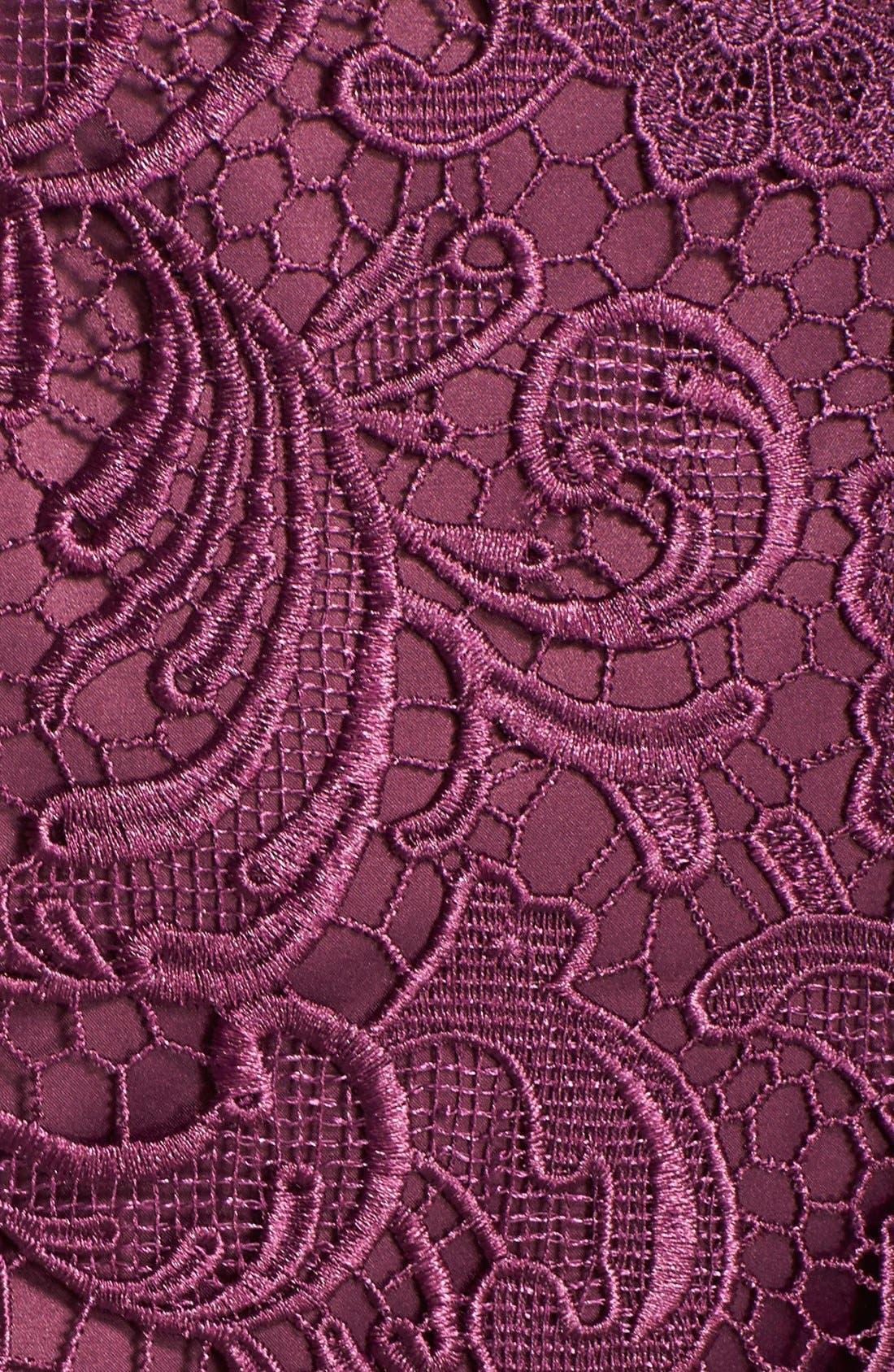 Illusion Bodice Lace Sheath Dress,                             Alternate thumbnail 39, color,