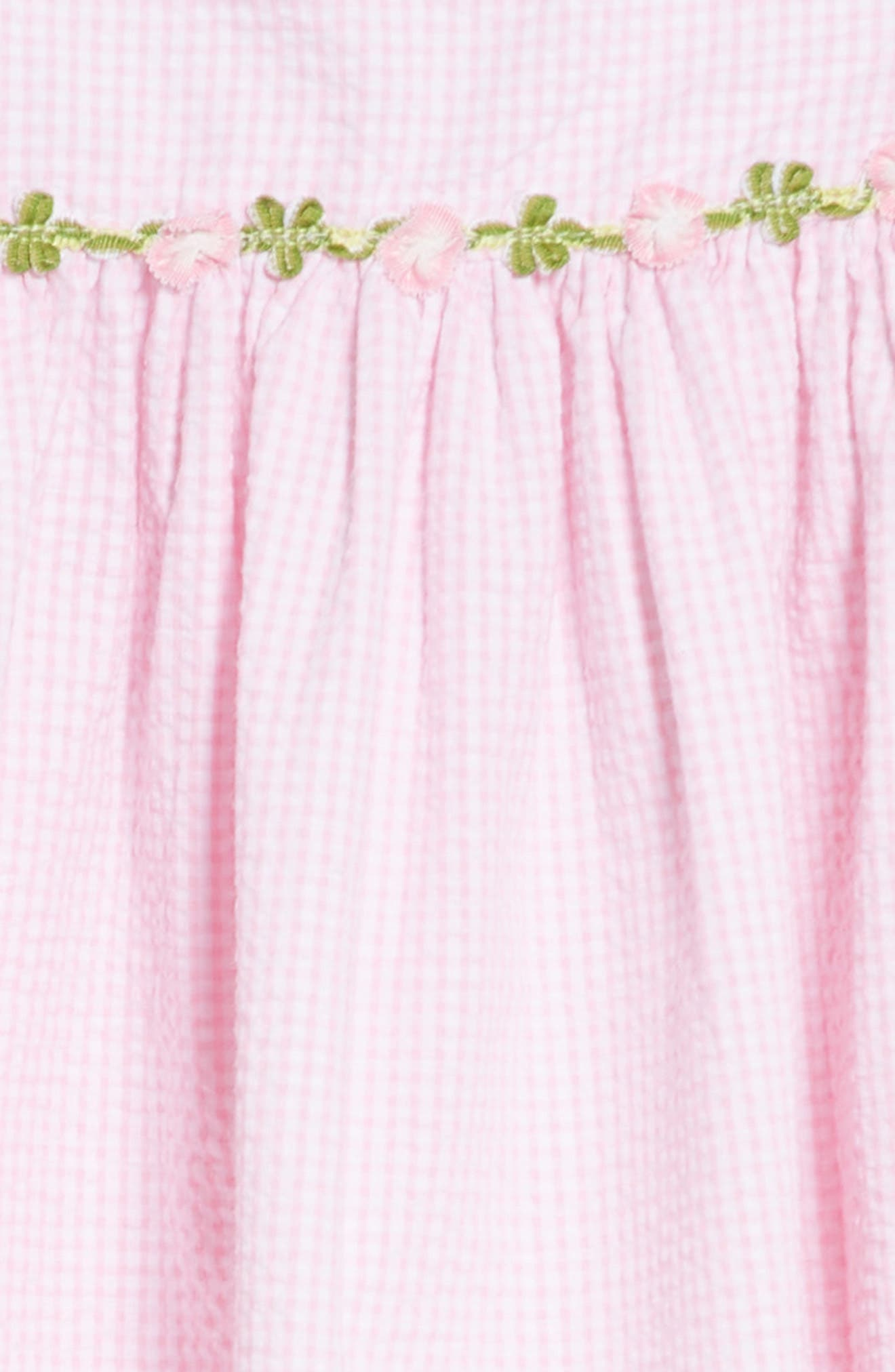 Seersucker Ruffle Sleeve Dress,                             Alternate thumbnail 3, color,