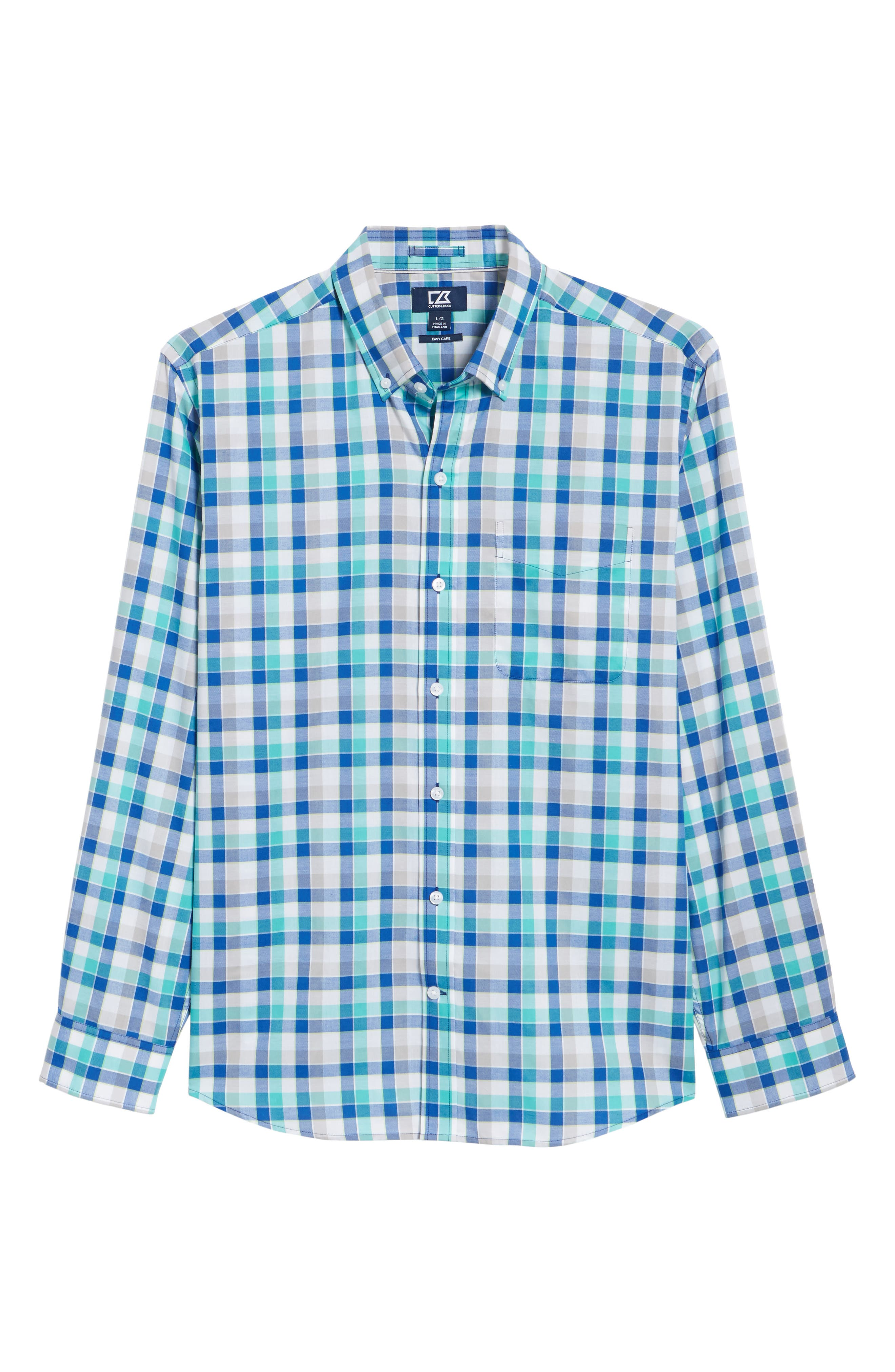 Dylan Classic Fit Easy Care Check Sport Shirt,                             Alternate thumbnail 16, color,