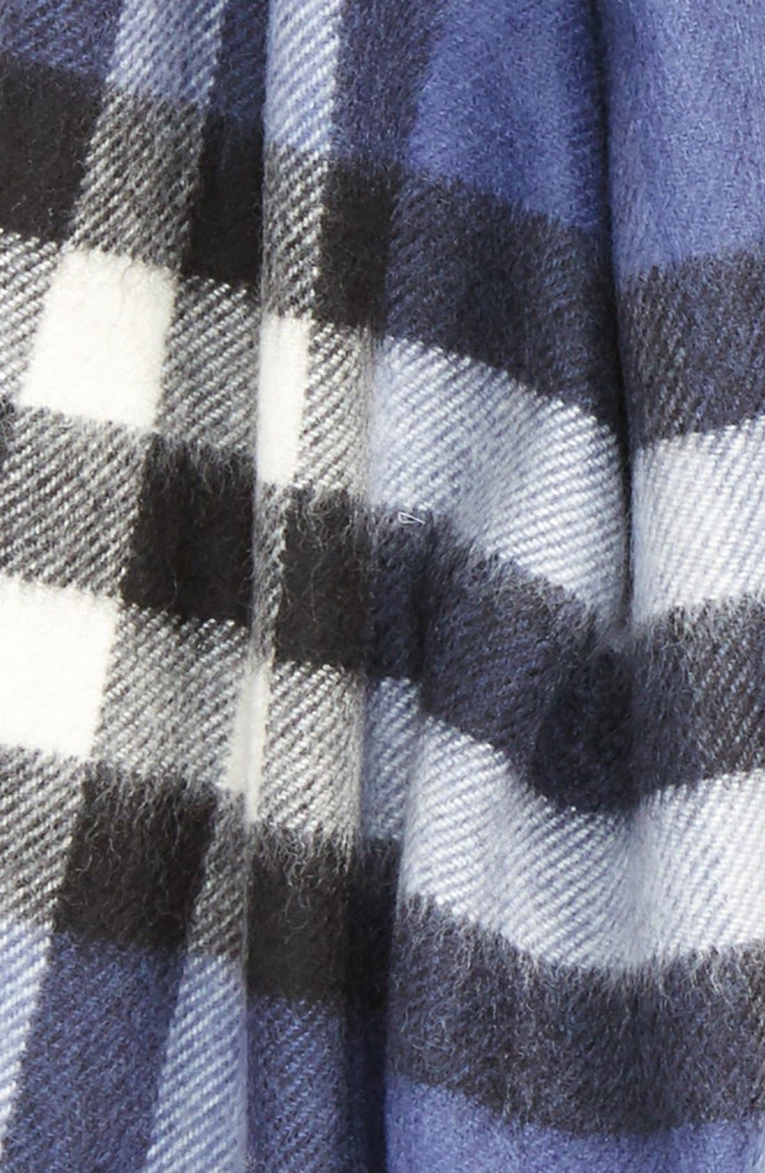 BURBERRY,                             Giant Check Cashmere Scarf,                             Alternate thumbnail 3, color,                             400