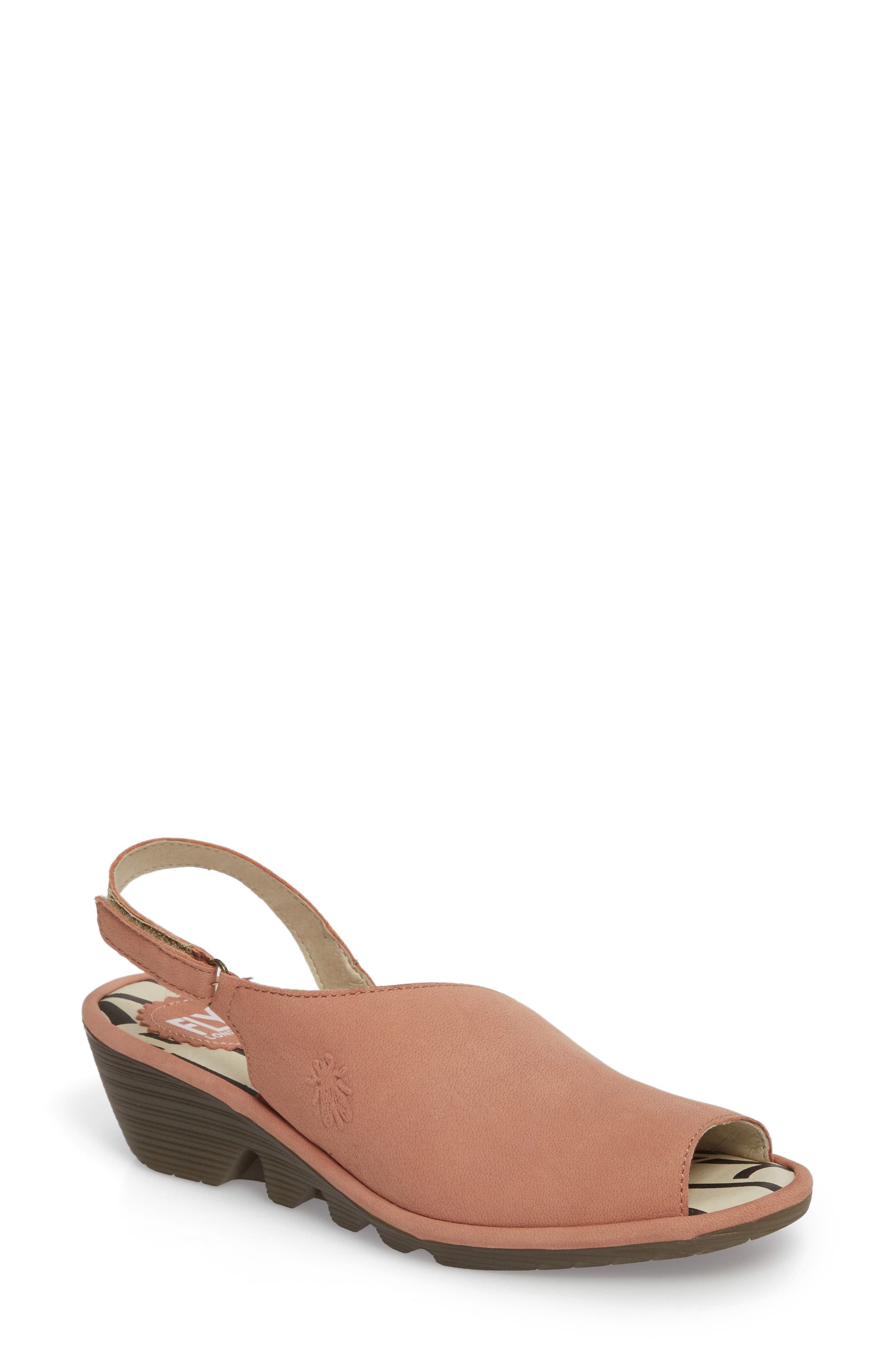 Fly London Palp Wedge Sandal - Red