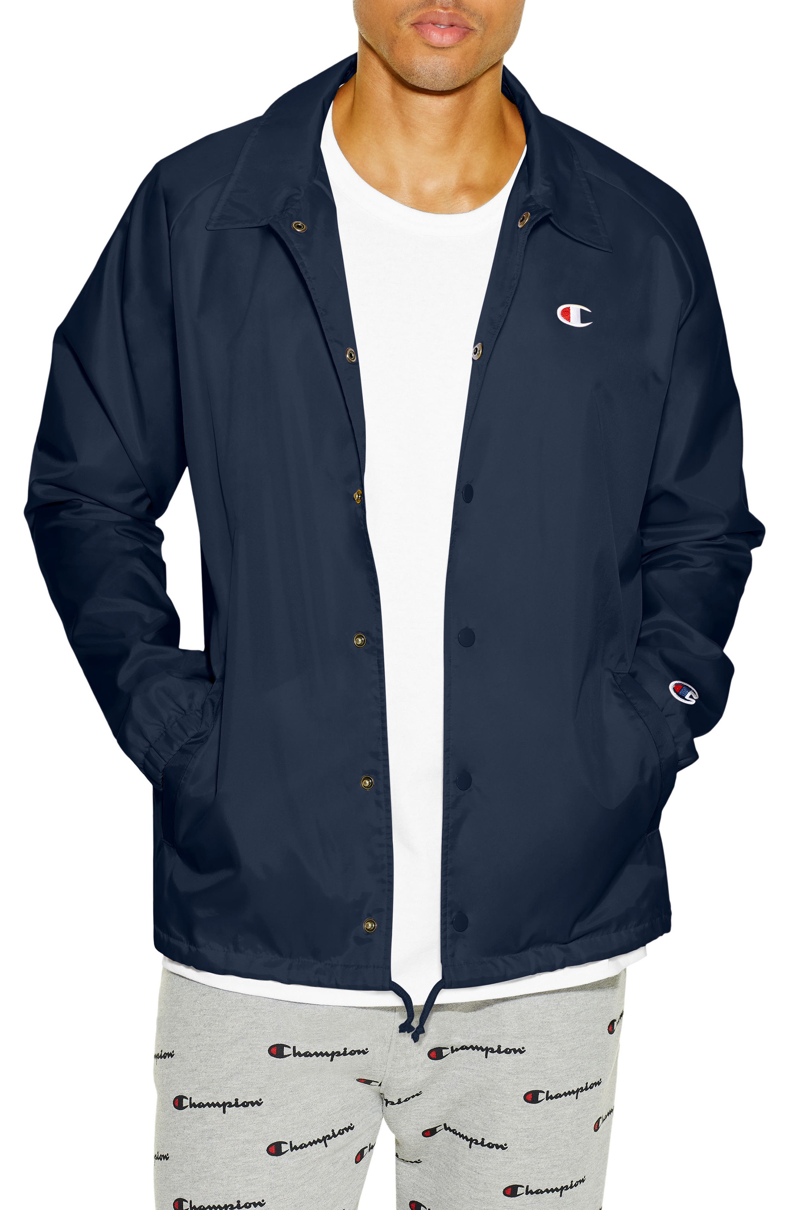 Coaches Jacket,                             Main thumbnail 1, color,                             NAVY