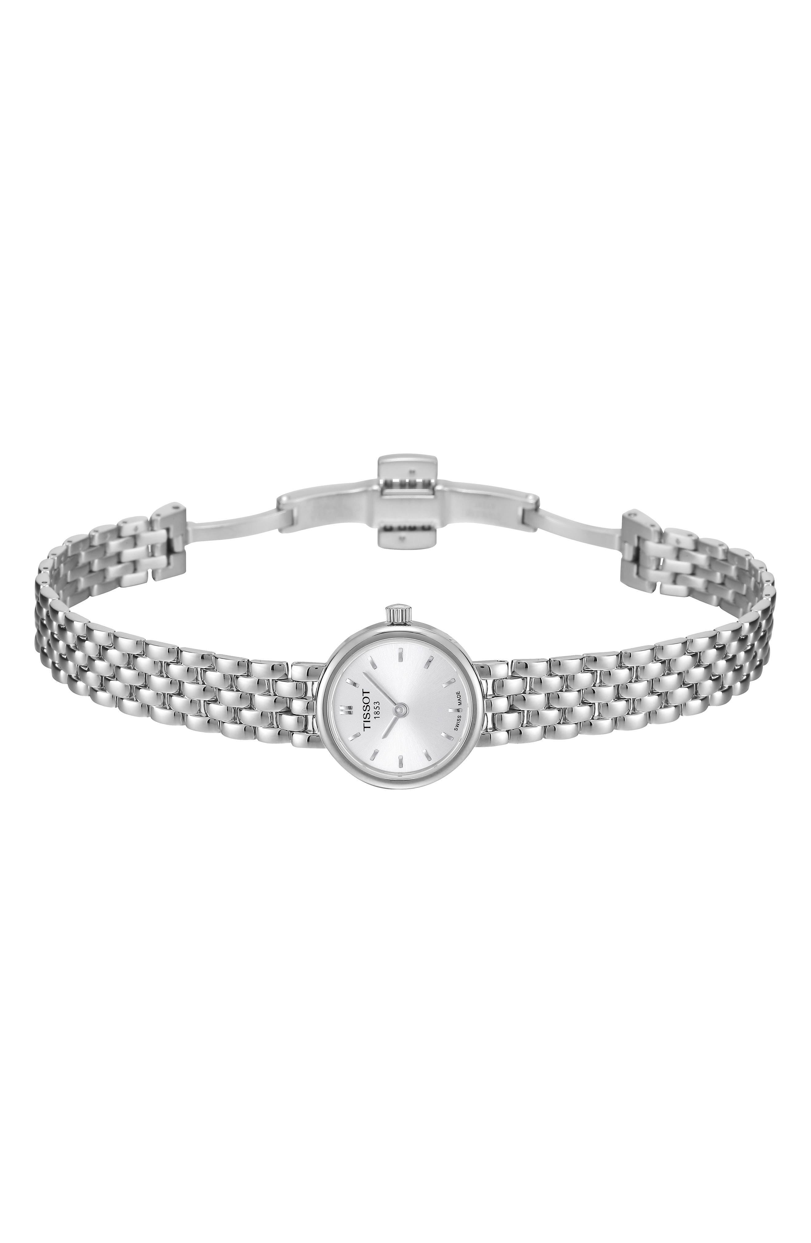 Lovely Bracelet Watch, 19mm,                             Alternate thumbnail 8, color,                             SILVER