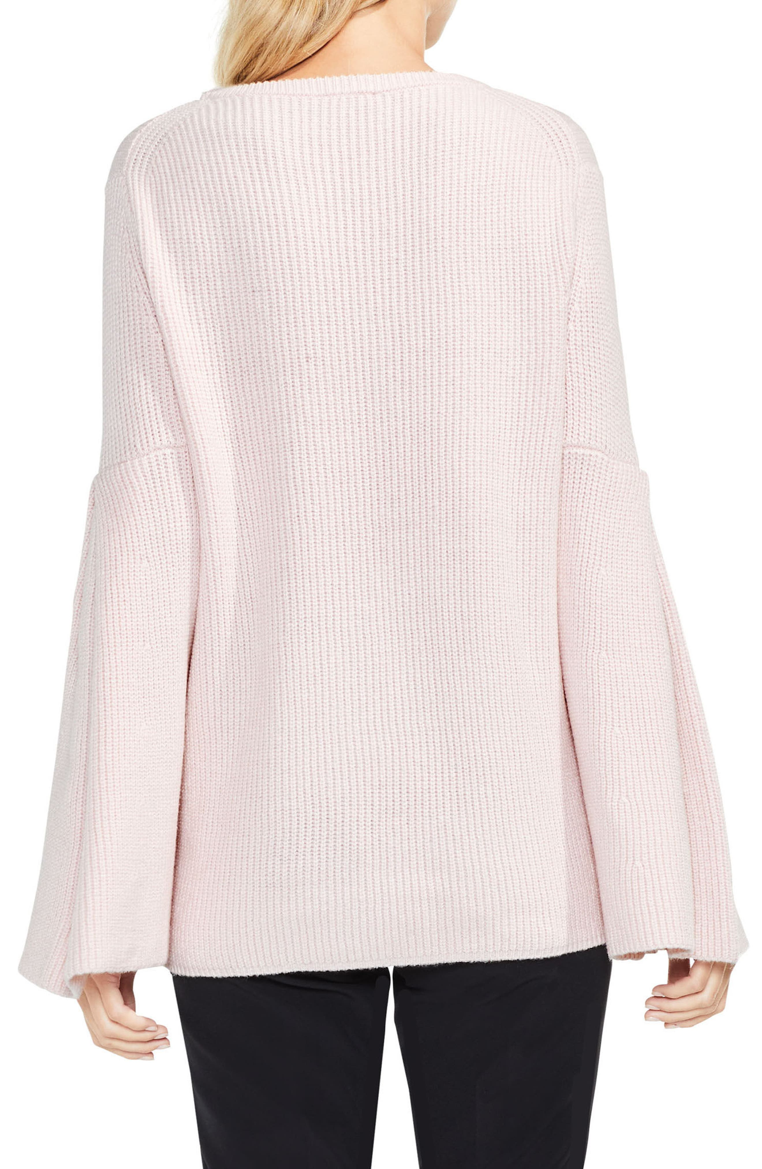 All Over Rib Bell Sleeve Sweater,                             Alternate thumbnail 10, color,