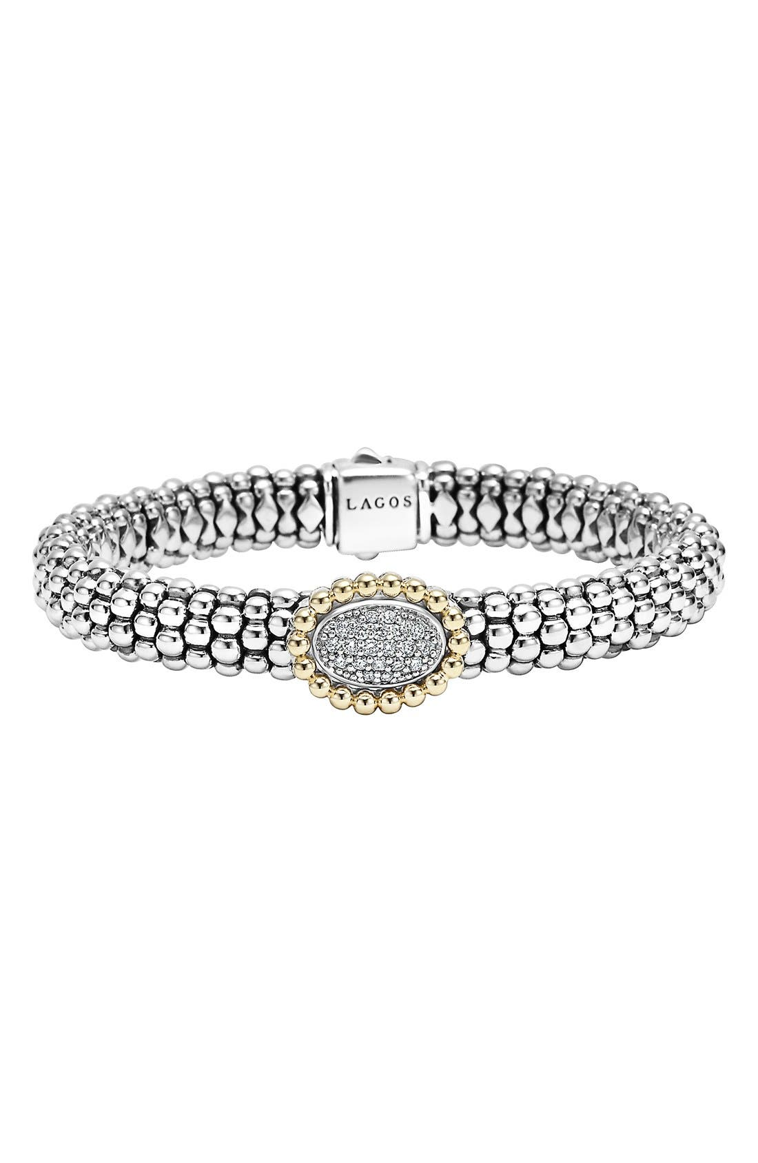 'Caviar' Diamond Bracelet,                             Main thumbnail 1, color,                             040