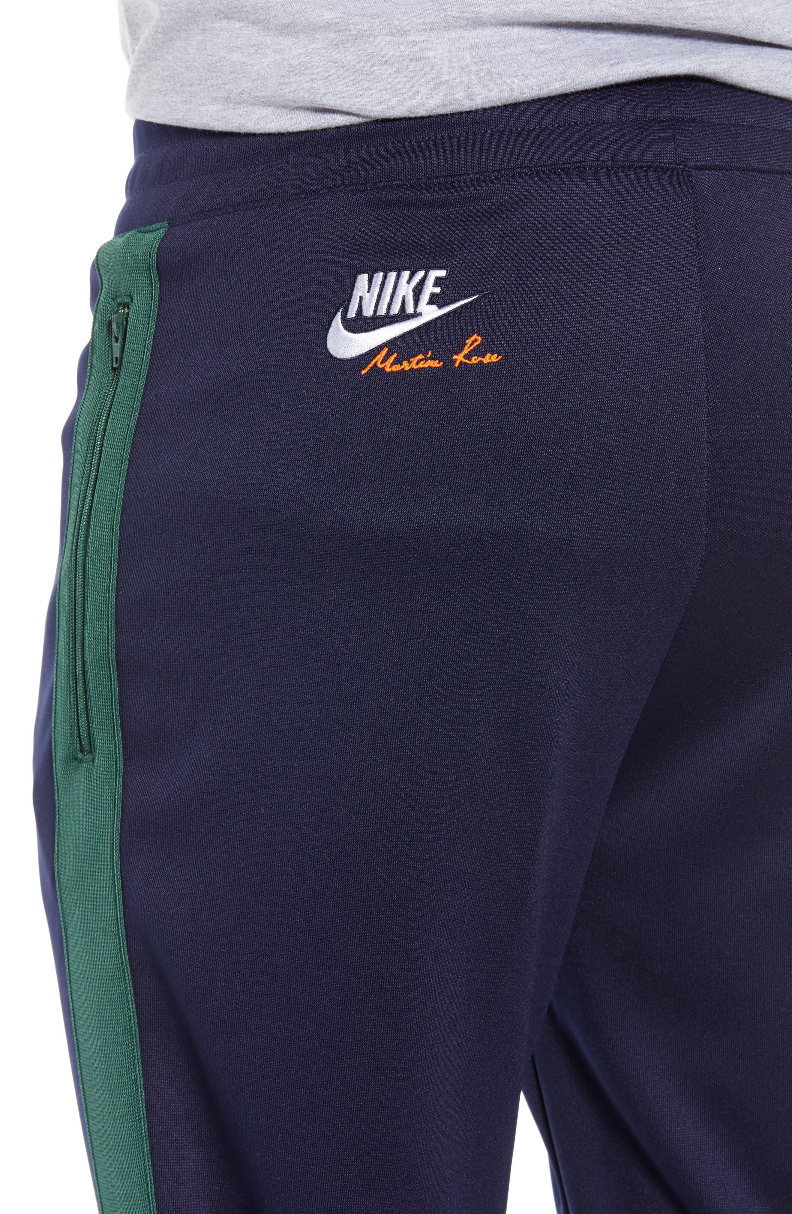 NIKE,                             x Martine Rose Men's Track Pants,                             Alternate thumbnail 4, color,                             BLACKENED BLUE/ FIR