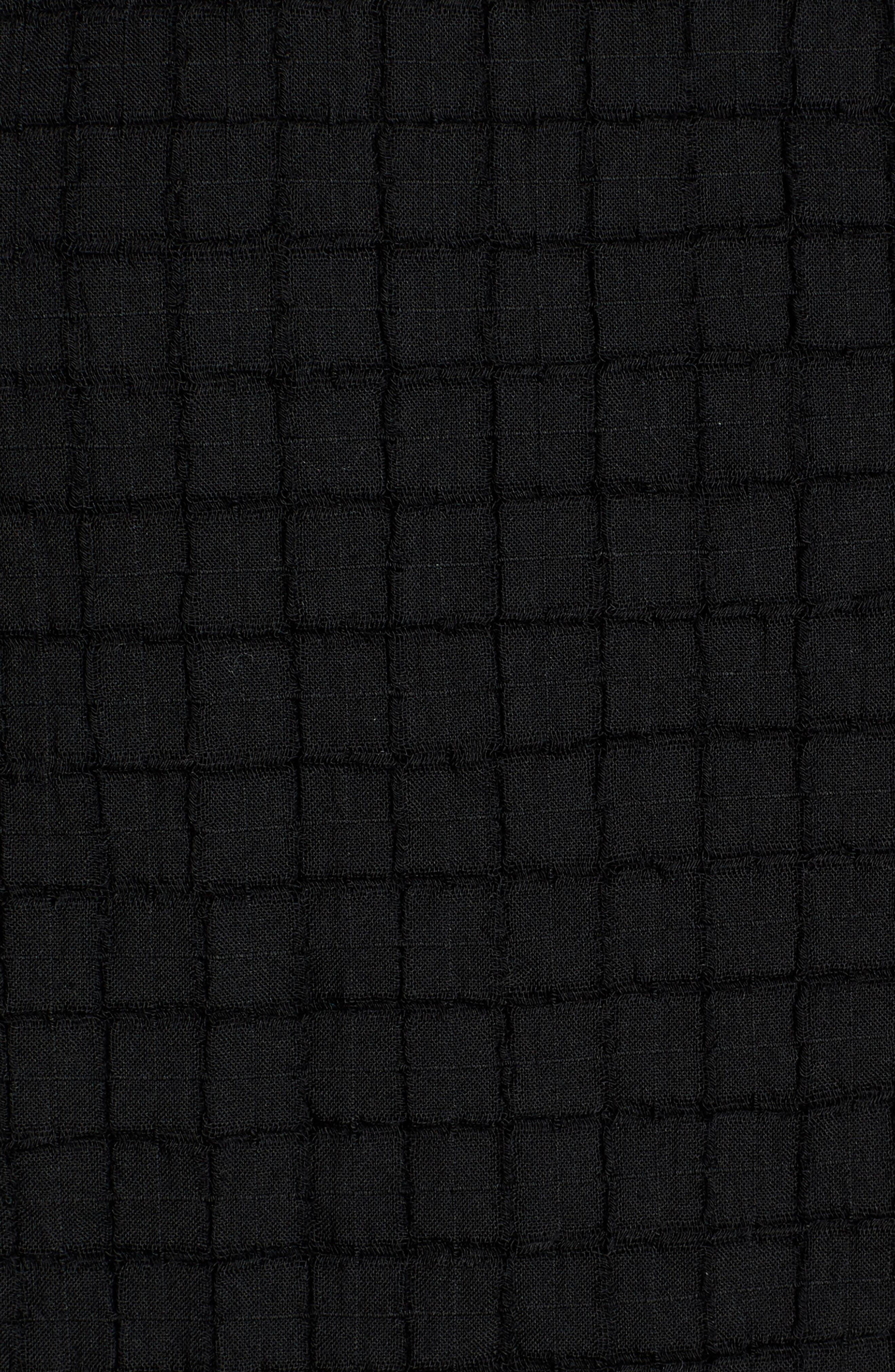 Stretch Organic Cotton Top,                             Alternate thumbnail 6, color,                             001