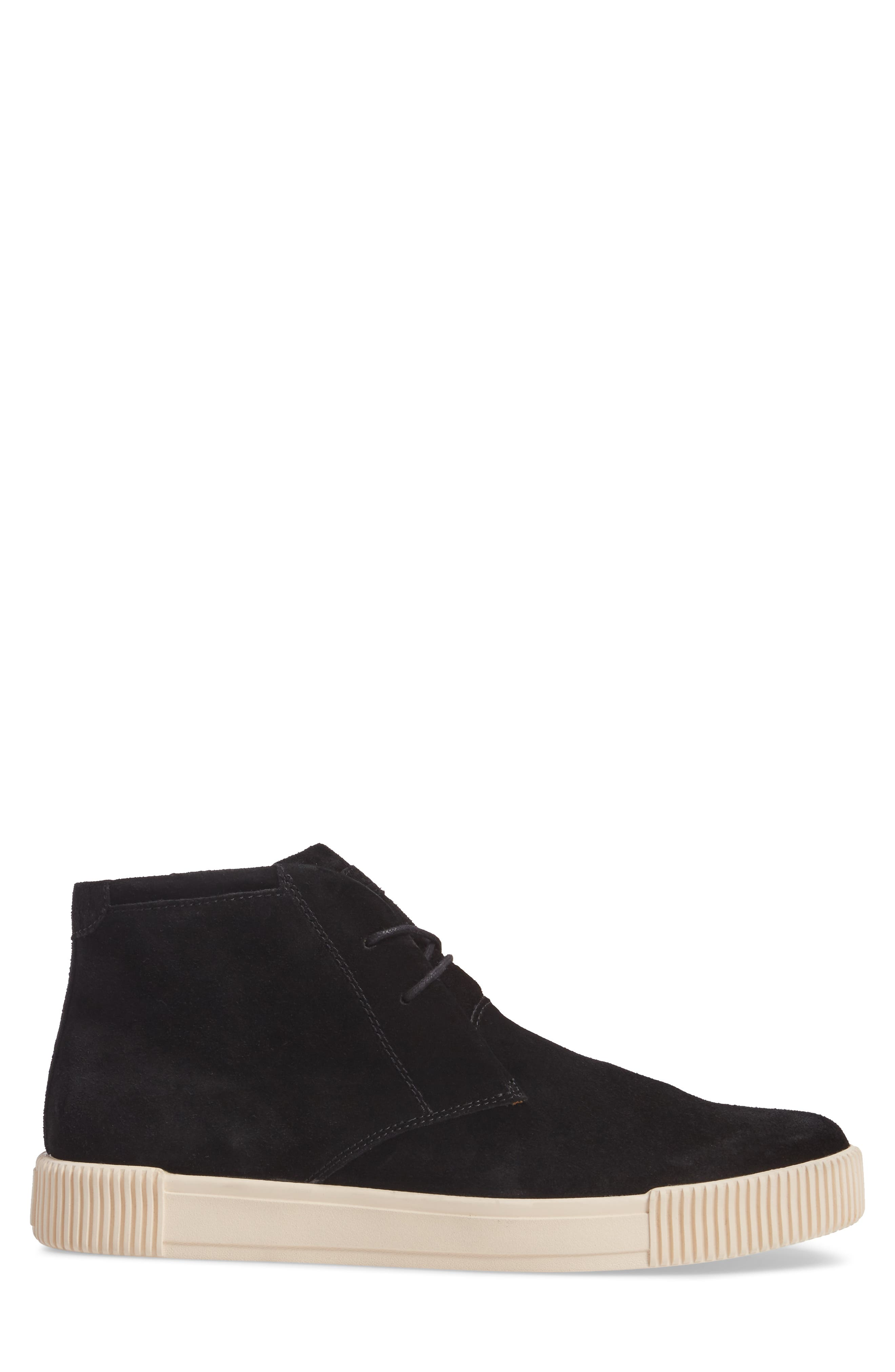 Lyons Chukka Sneaker,                             Alternate thumbnail 3, color,                             BLACK SUEDE