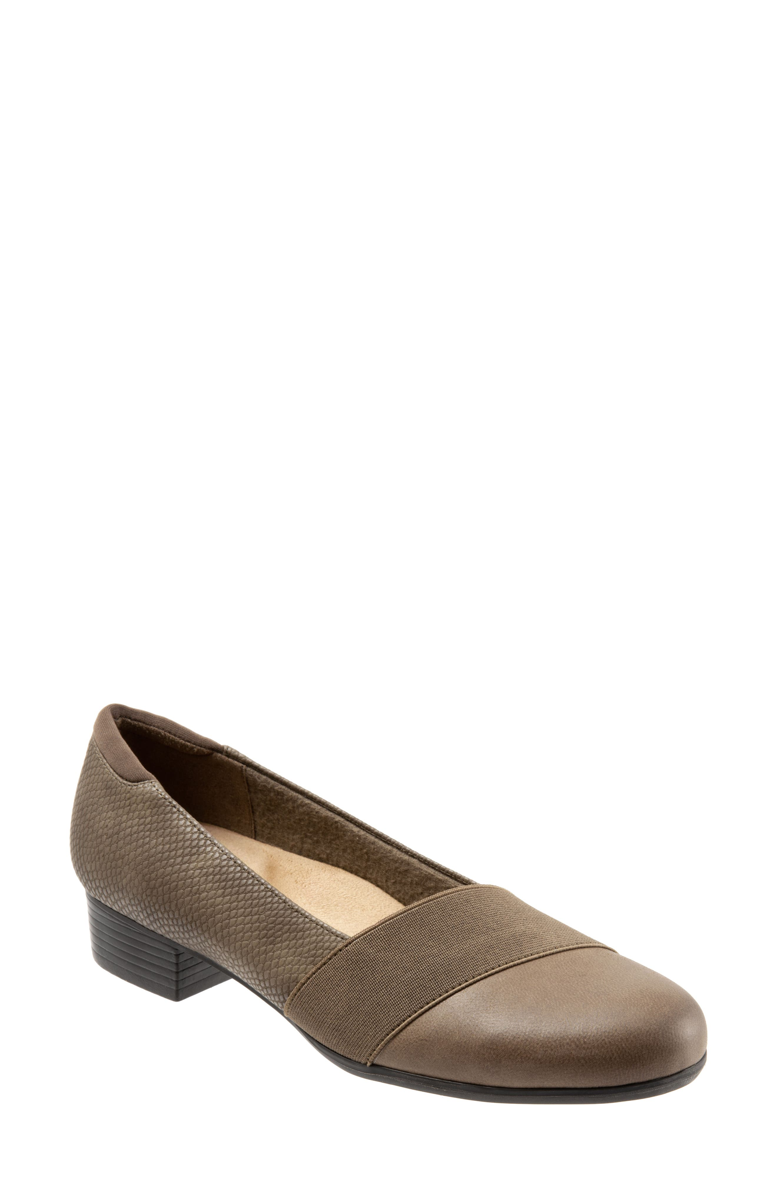 Melinda Loafer,                             Main thumbnail 1, color,                             DARK TAUPE LEATHER