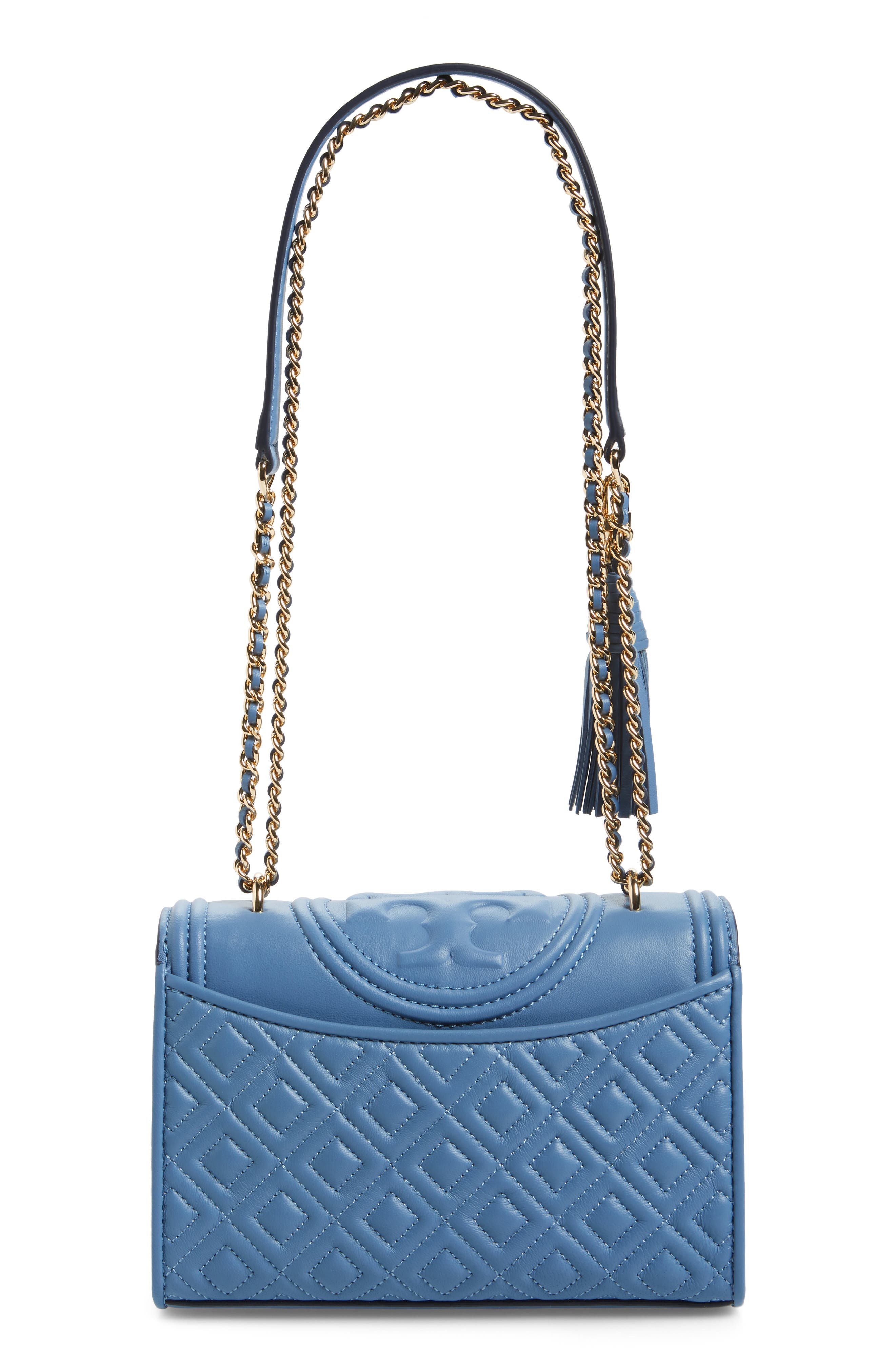 Fleming Convertible Leather Shoulder Bag,                             Alternate thumbnail 3, color,                             401