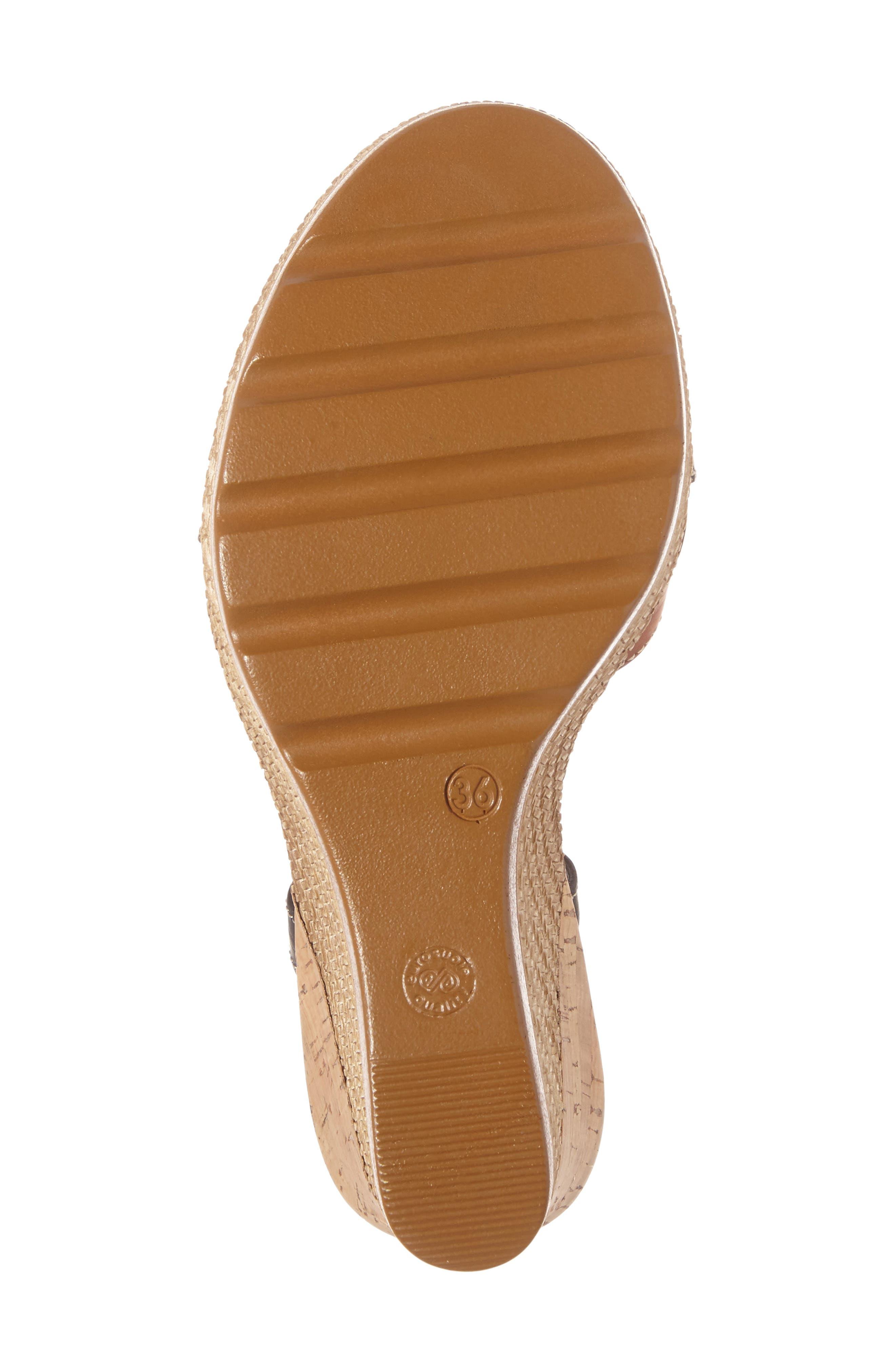 Modena Wedge Sandal,                             Alternate thumbnail 4, color,                             001