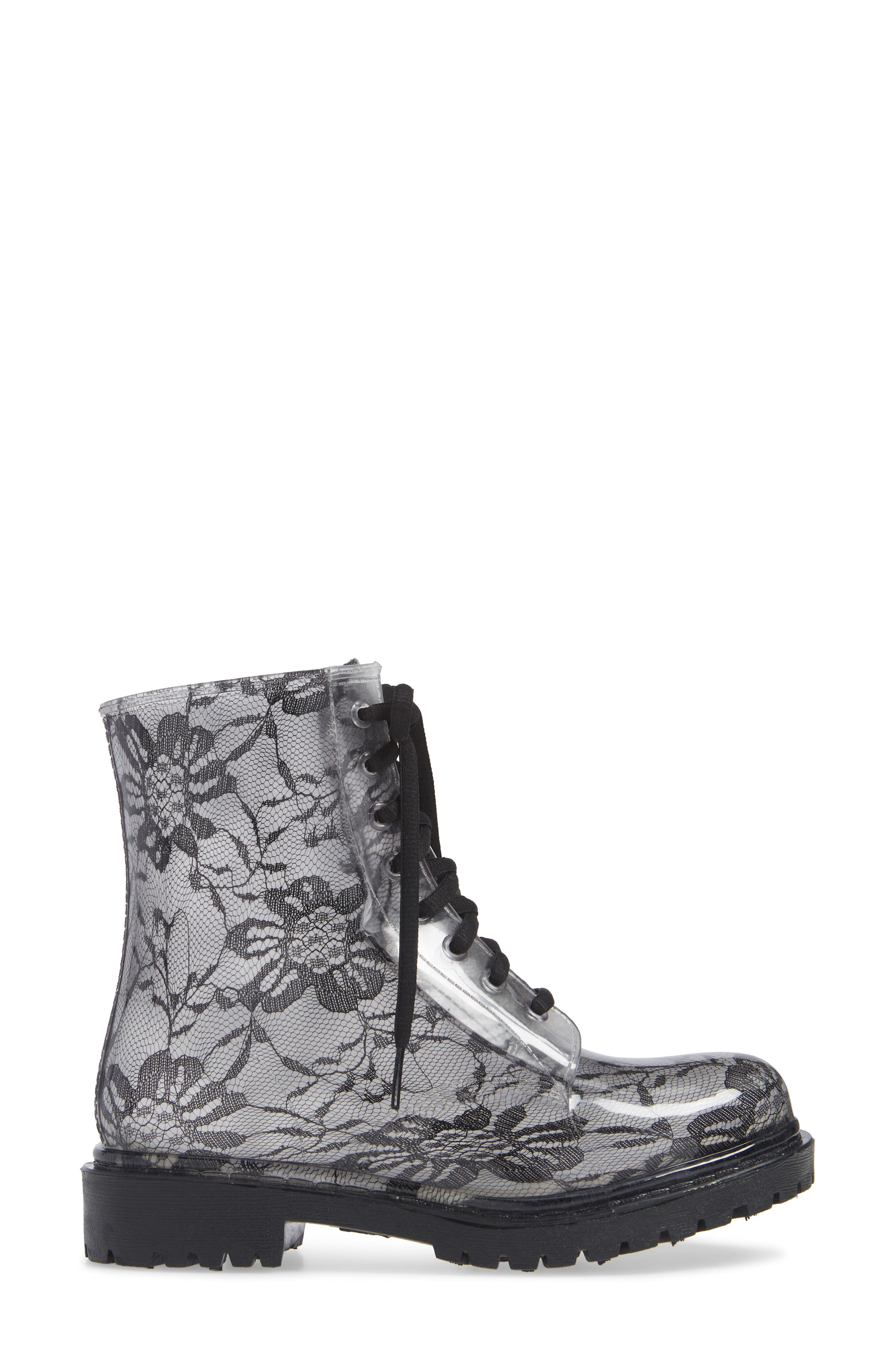 Charlie Waterproof Boot,                             Alternate thumbnail 3, color,                             BLACK LACE