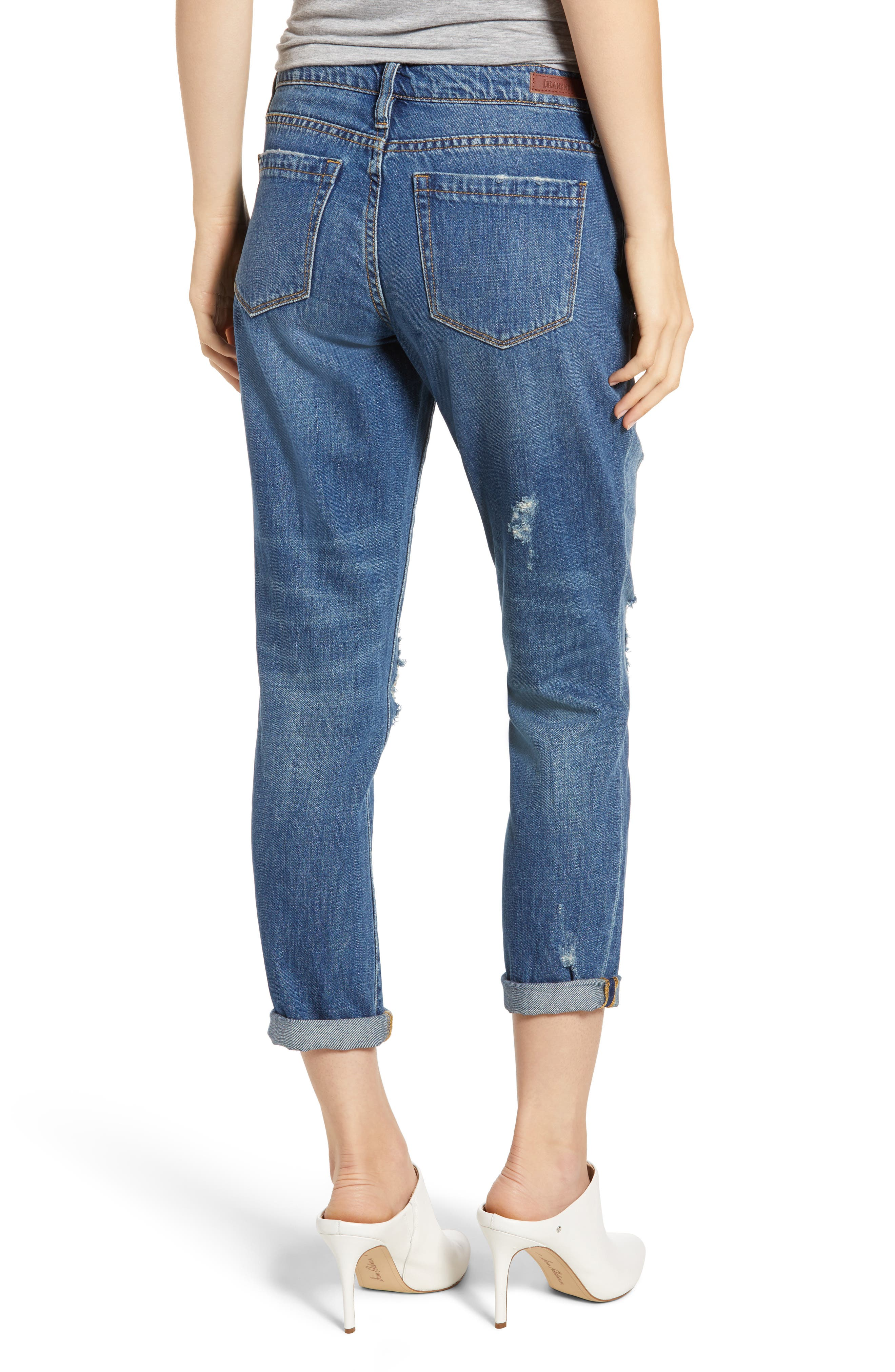 Ludlow Ripped Crop Girlfriend Jeans,                             Alternate thumbnail 2, color,                             420