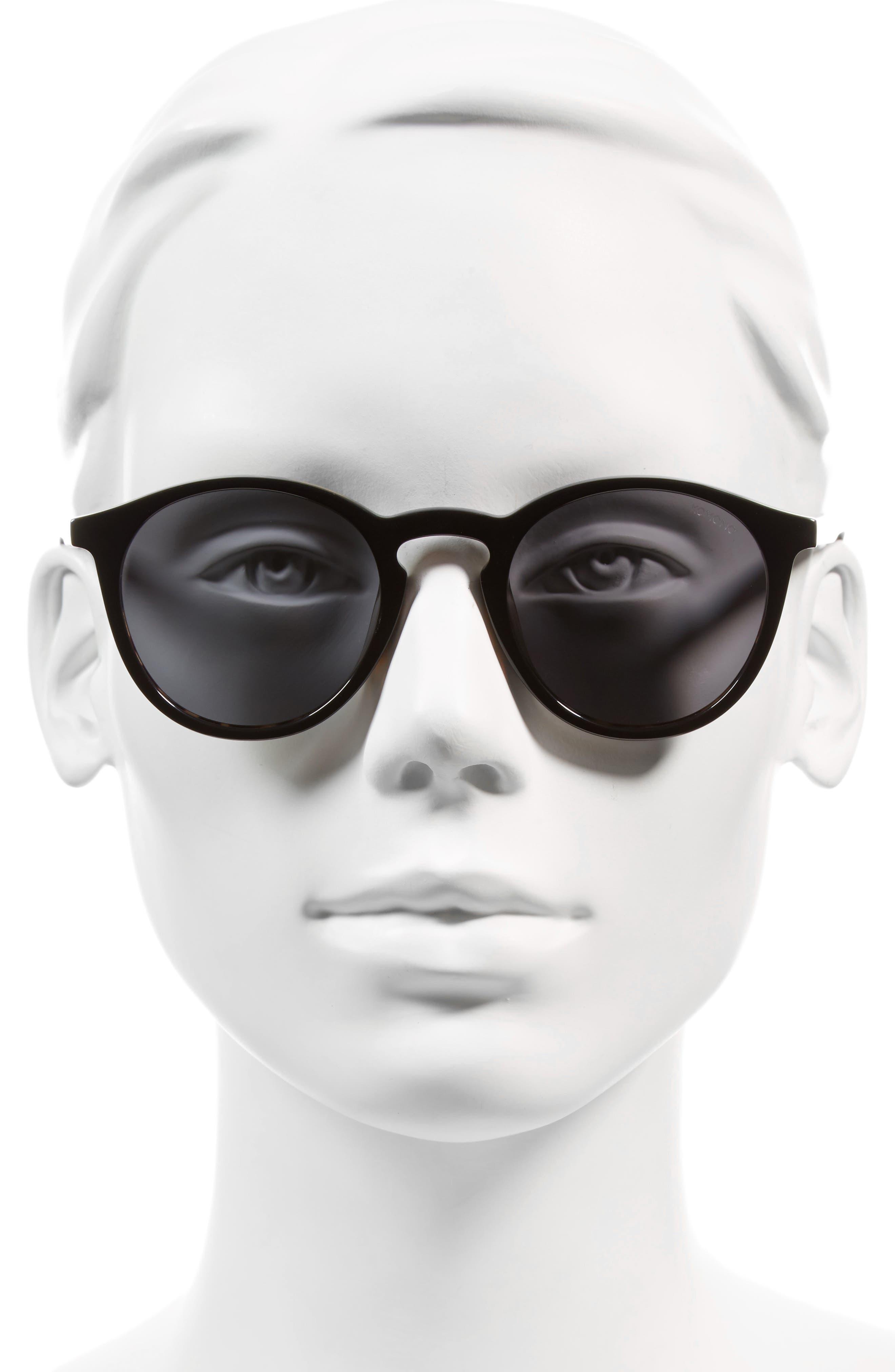 Aston 48mm Round Sunglasses,                             Alternate thumbnail 3, color,                             001