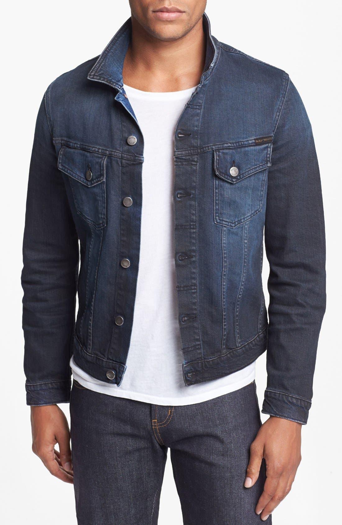 'Perry' Organic Denim Jacket, Main, color, 410