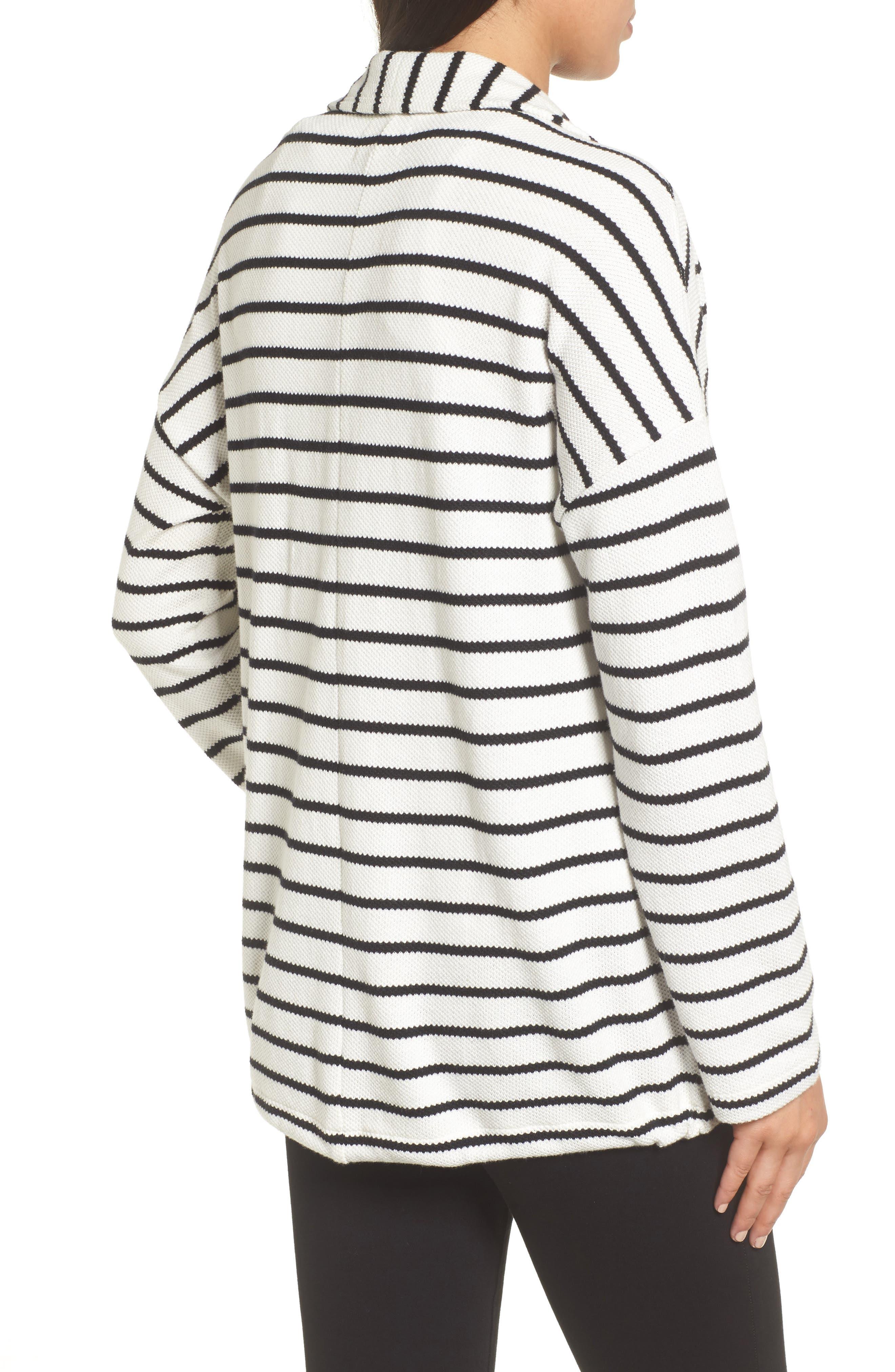 Stripe Knit Drawsting Jacket,                             Alternate thumbnail 4, color,