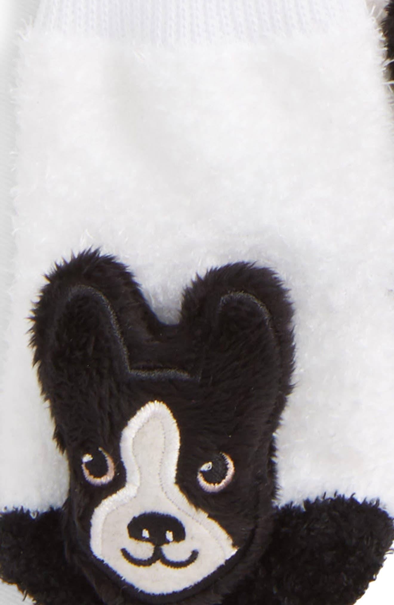 2-Pack Boston Terrier Rattle Socks,                             Alternate thumbnail 2, color,                             BLACK/ WHITE
