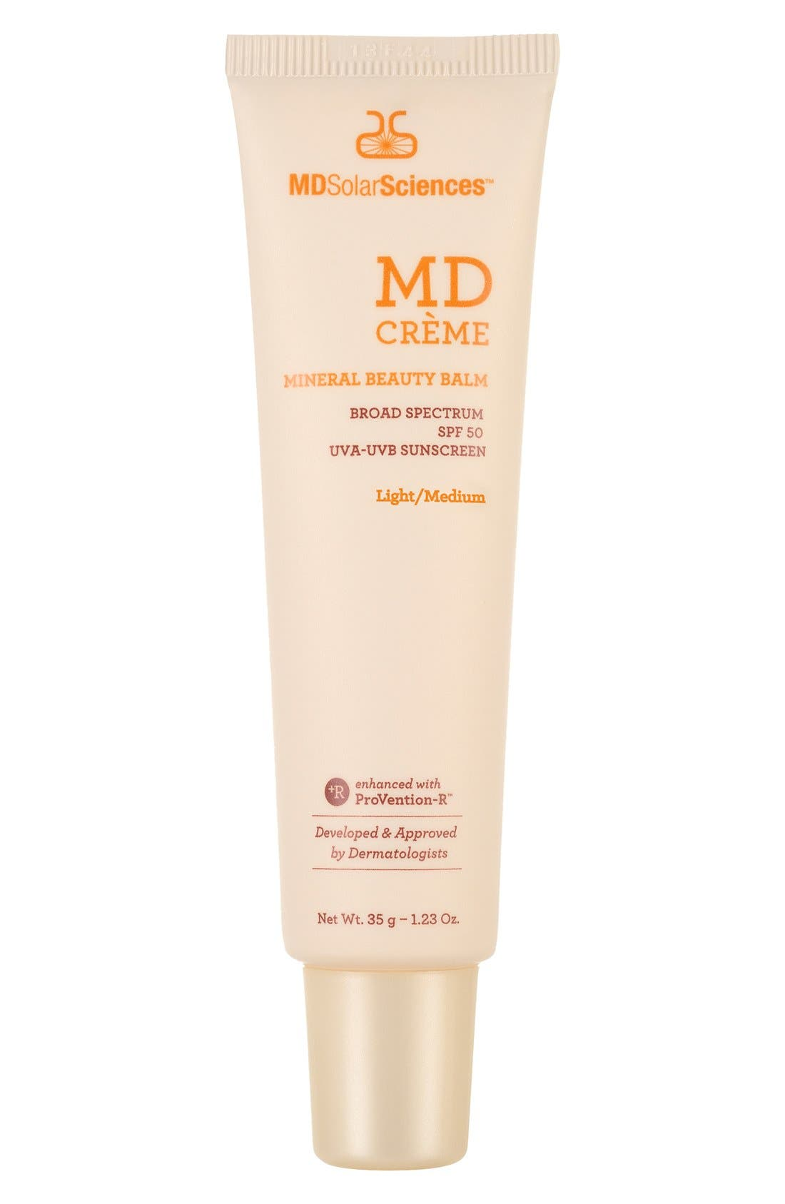 MD Crème Mineral Beauty Balm Broad Spectrum SPF 50 Sunscreen,                             Main thumbnail 1, color,