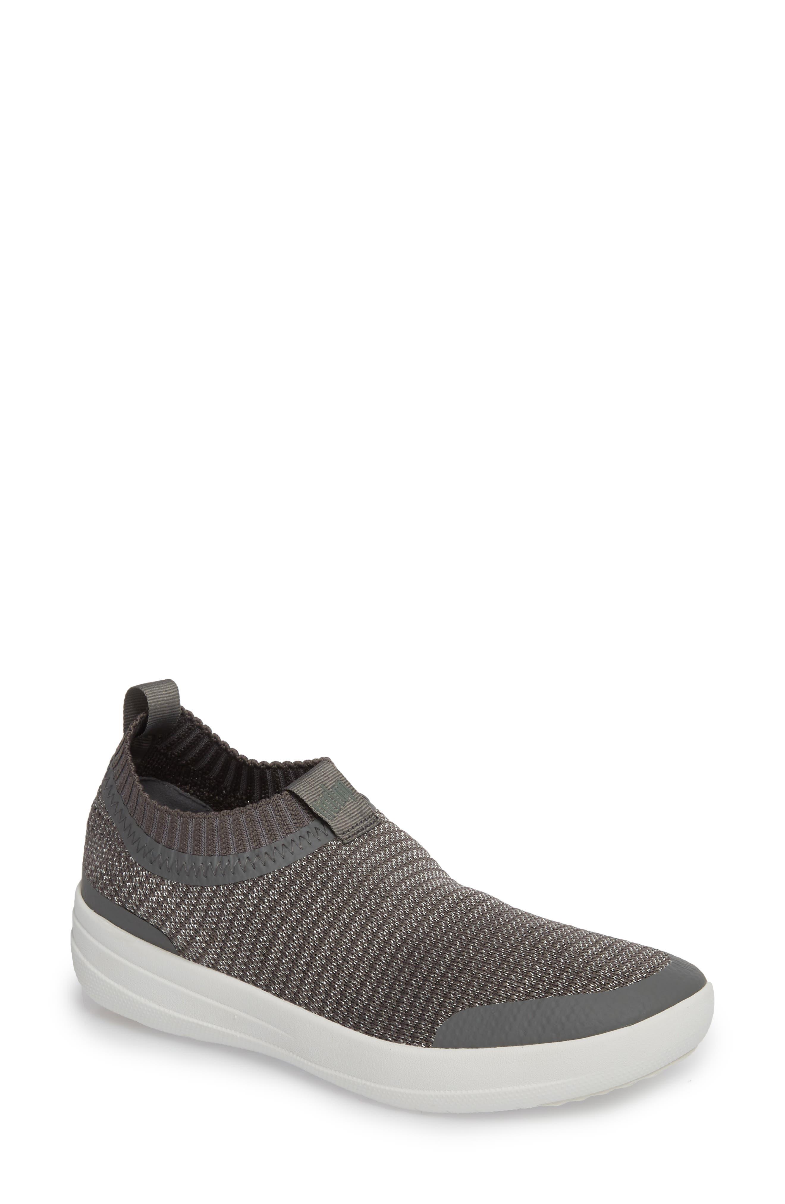Uberknit Knit Sock Sneaker,                         Main,                         color, CHARCOAL/ METALLIC PEWTER