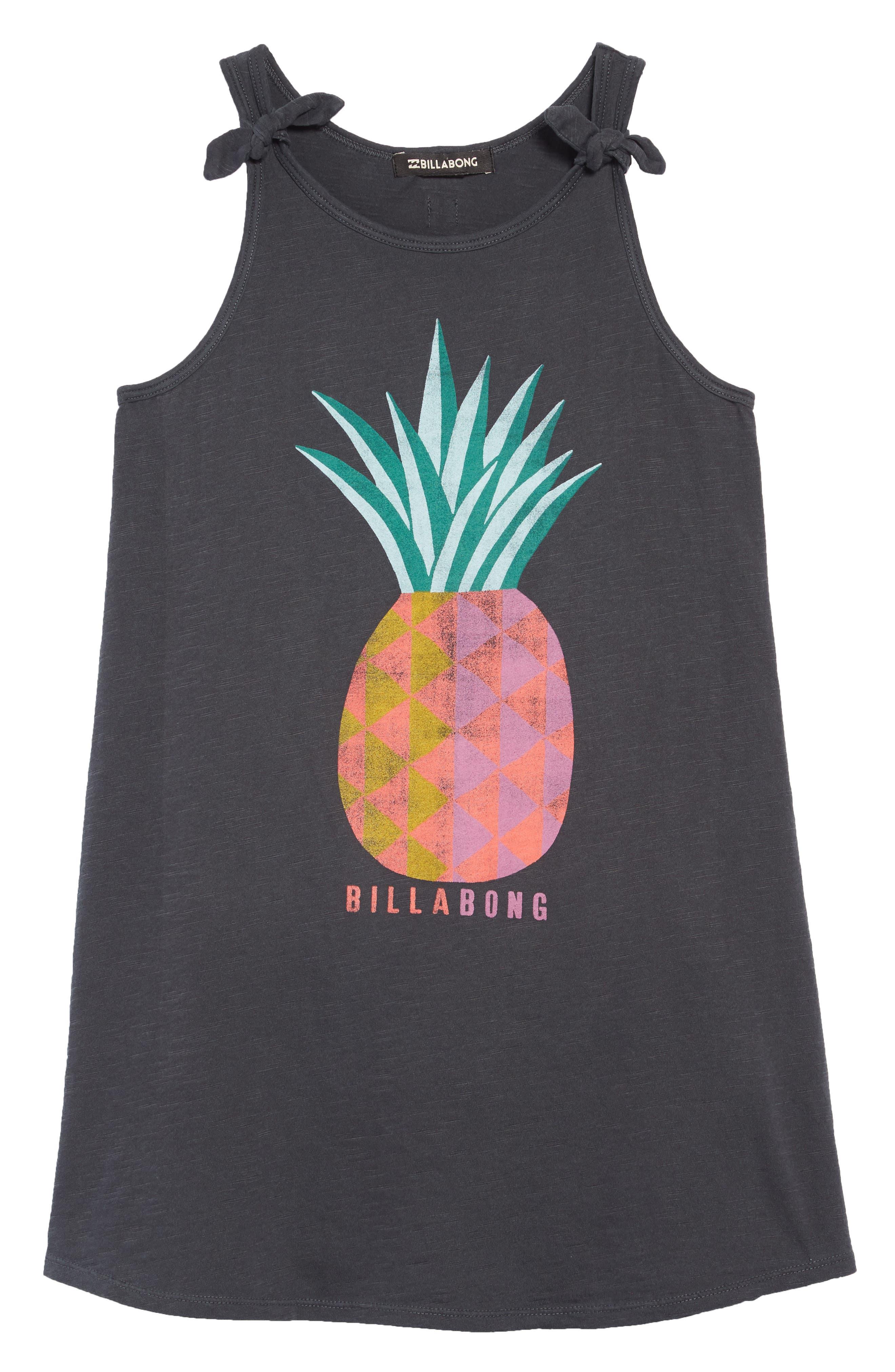 Beach Song T-Shirt Dress, Main, color, BLACK