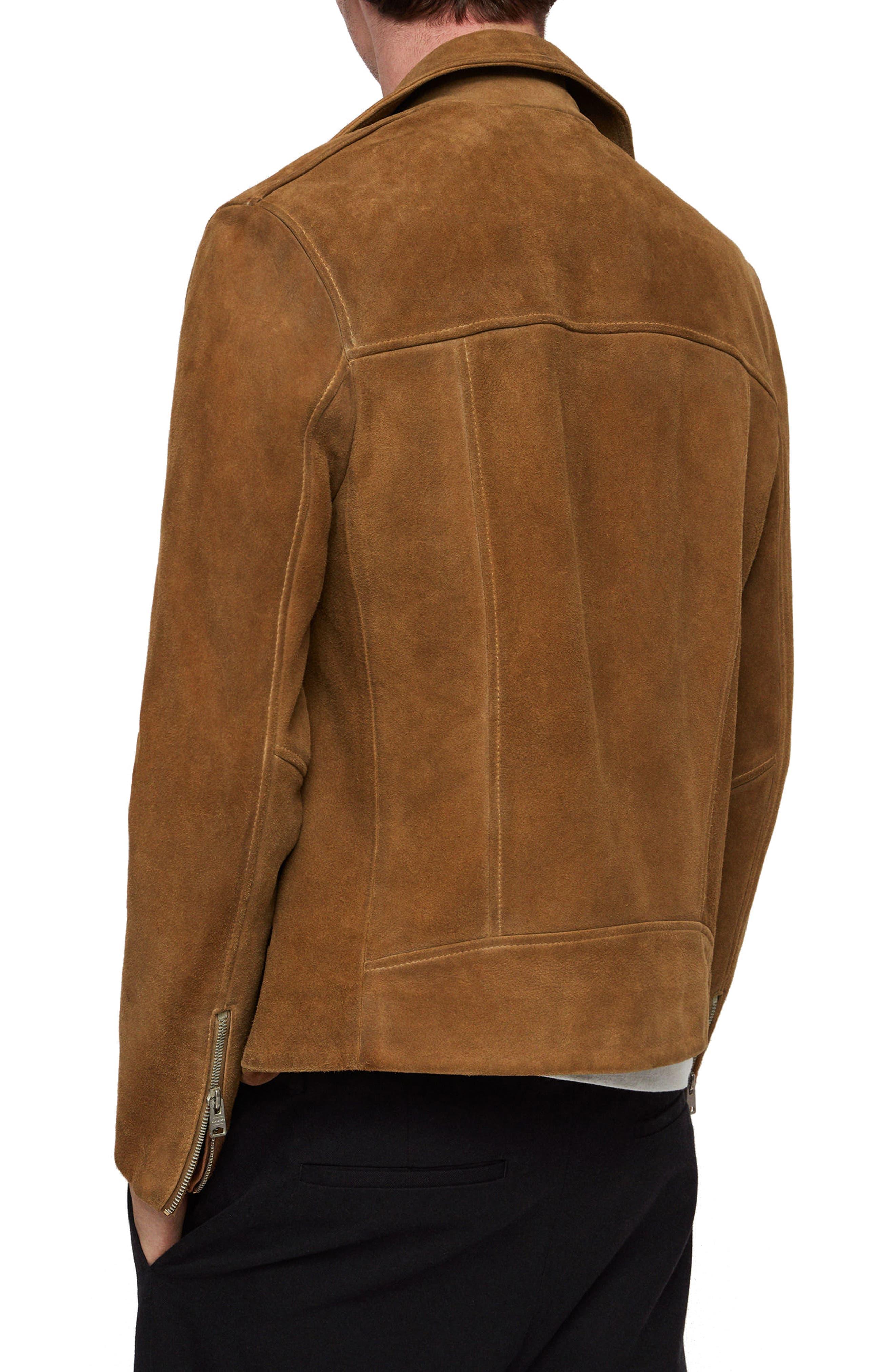 Judd Slim Fit Leather Biker Jacket,                             Alternate thumbnail 2, color,                             219
