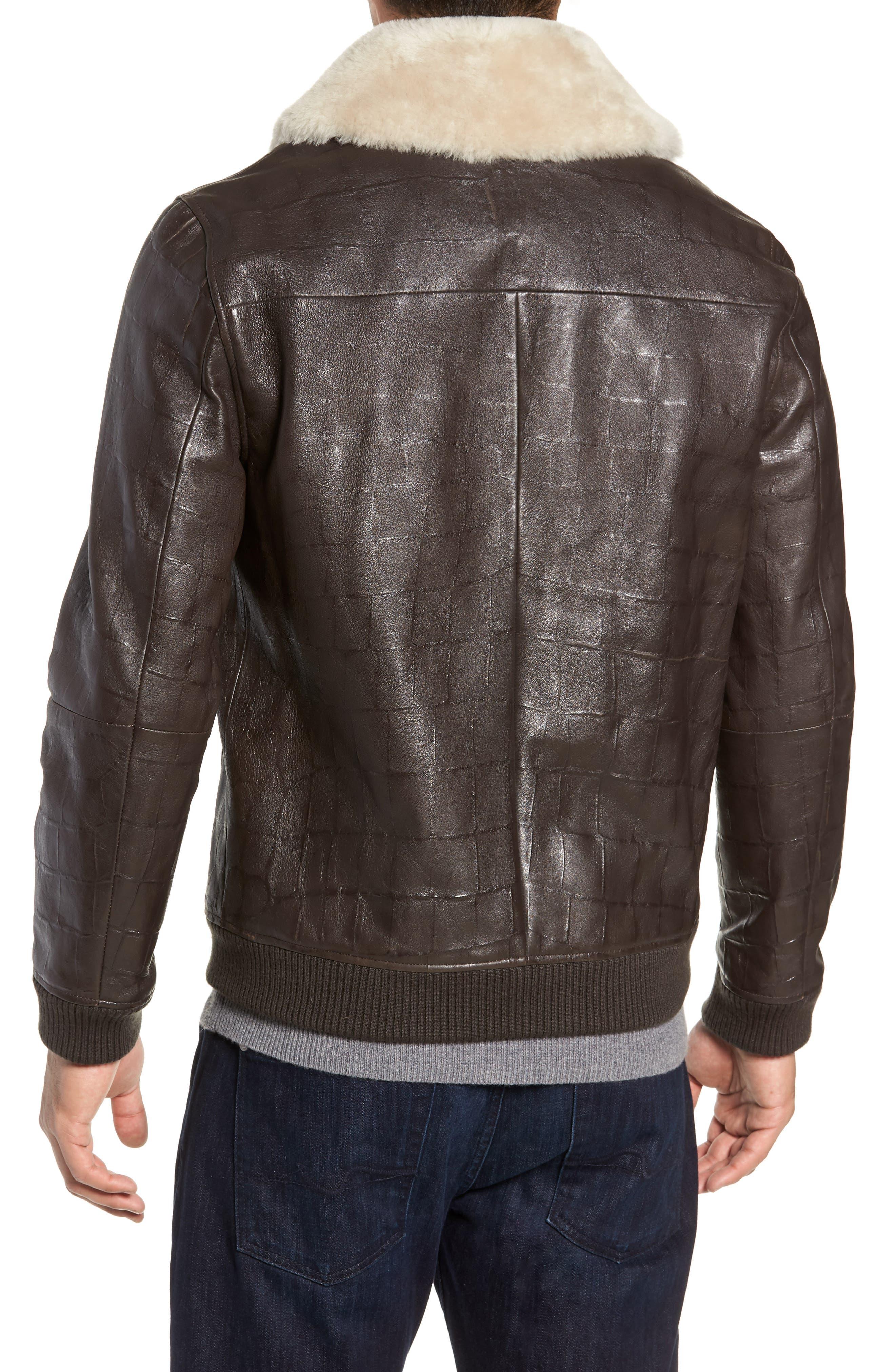 Corson Genuine Shearling Jacket,                             Alternate thumbnail 2, color,                             BROWN
