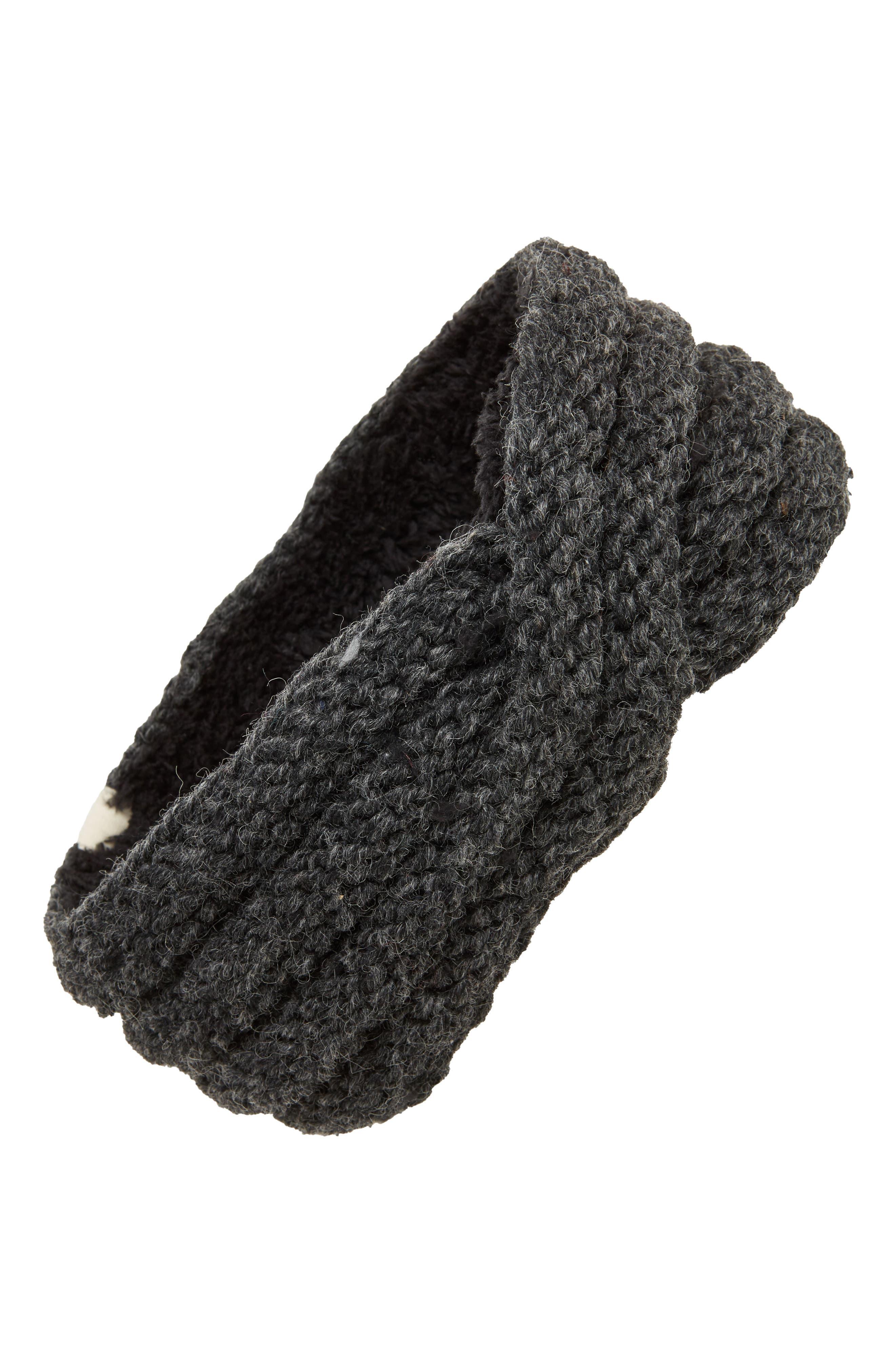 Veronica Cabled Wool Headband,                             Main thumbnail 1, color,                             CHARCOAL
