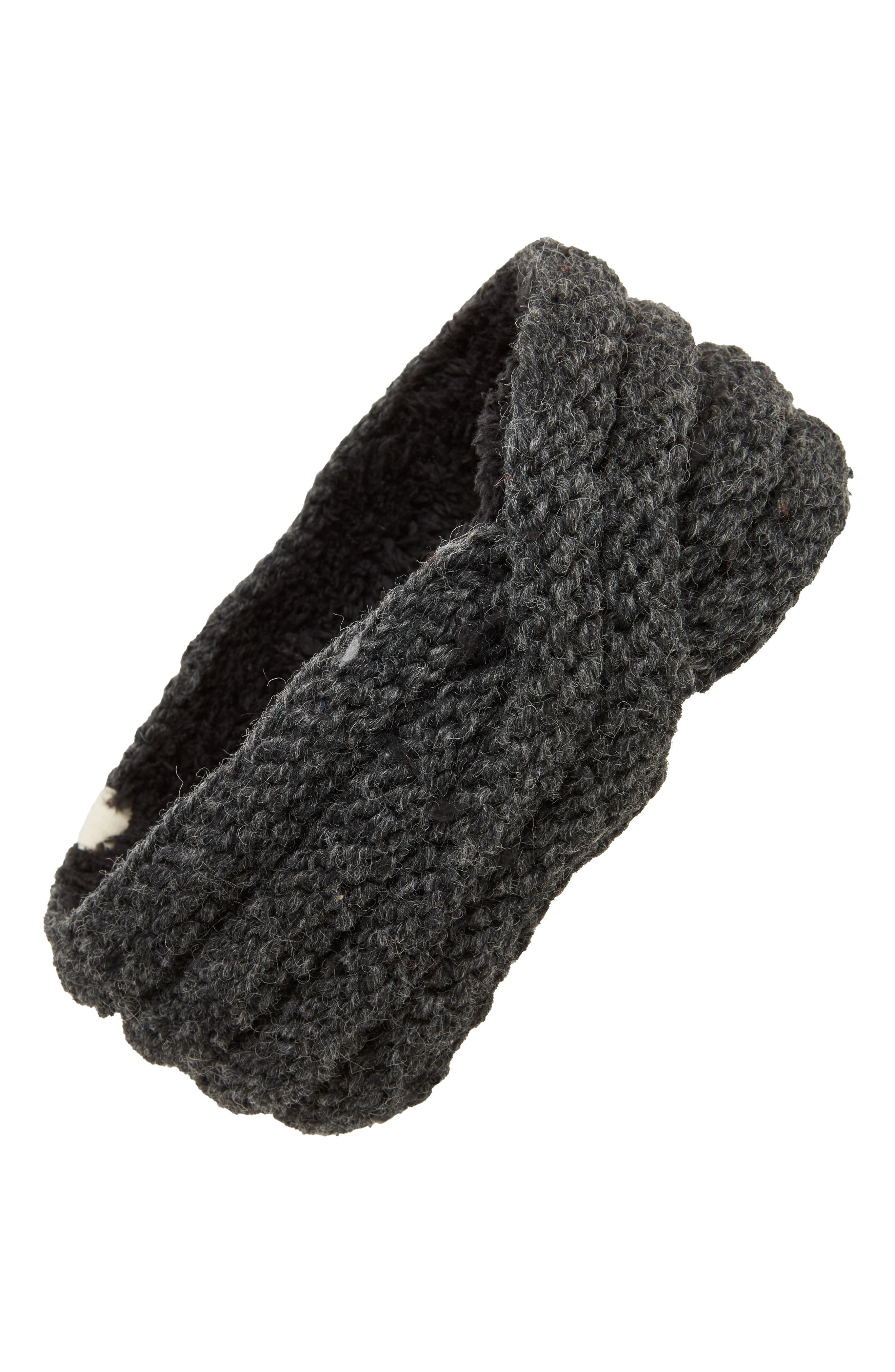 Veronica Cabled Wool Headband,                         Main,                         color, CHARCOAL