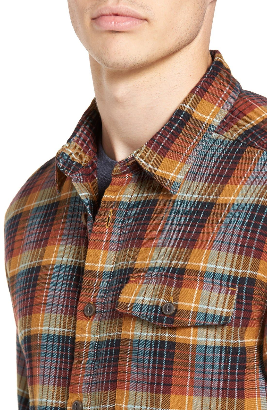 Regular Fit Organic Cotton Flannel Shirt,                             Alternate thumbnail 46, color,