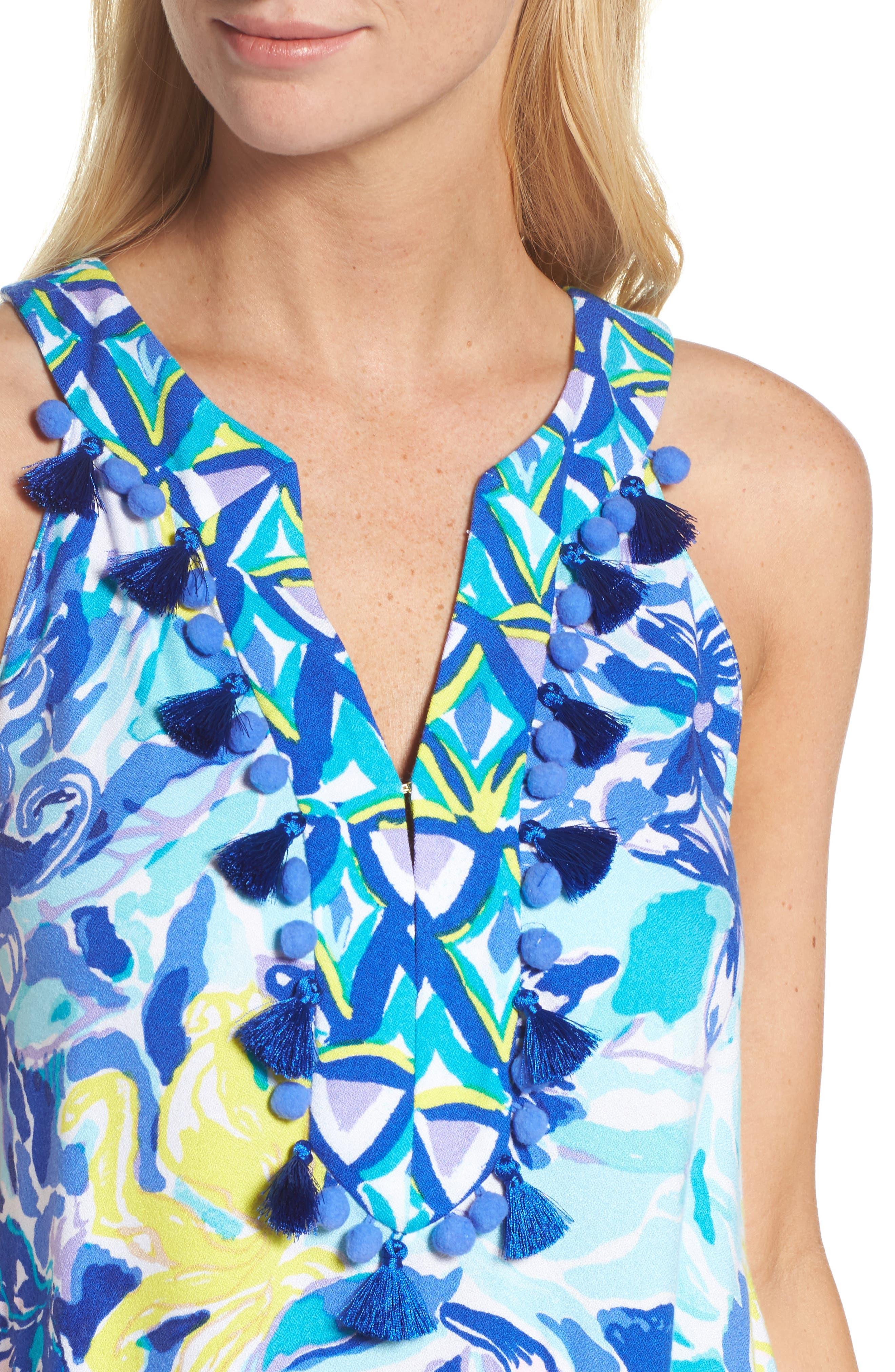 Achelle Trapeze Dress,                             Alternate thumbnail 4, color,                             427