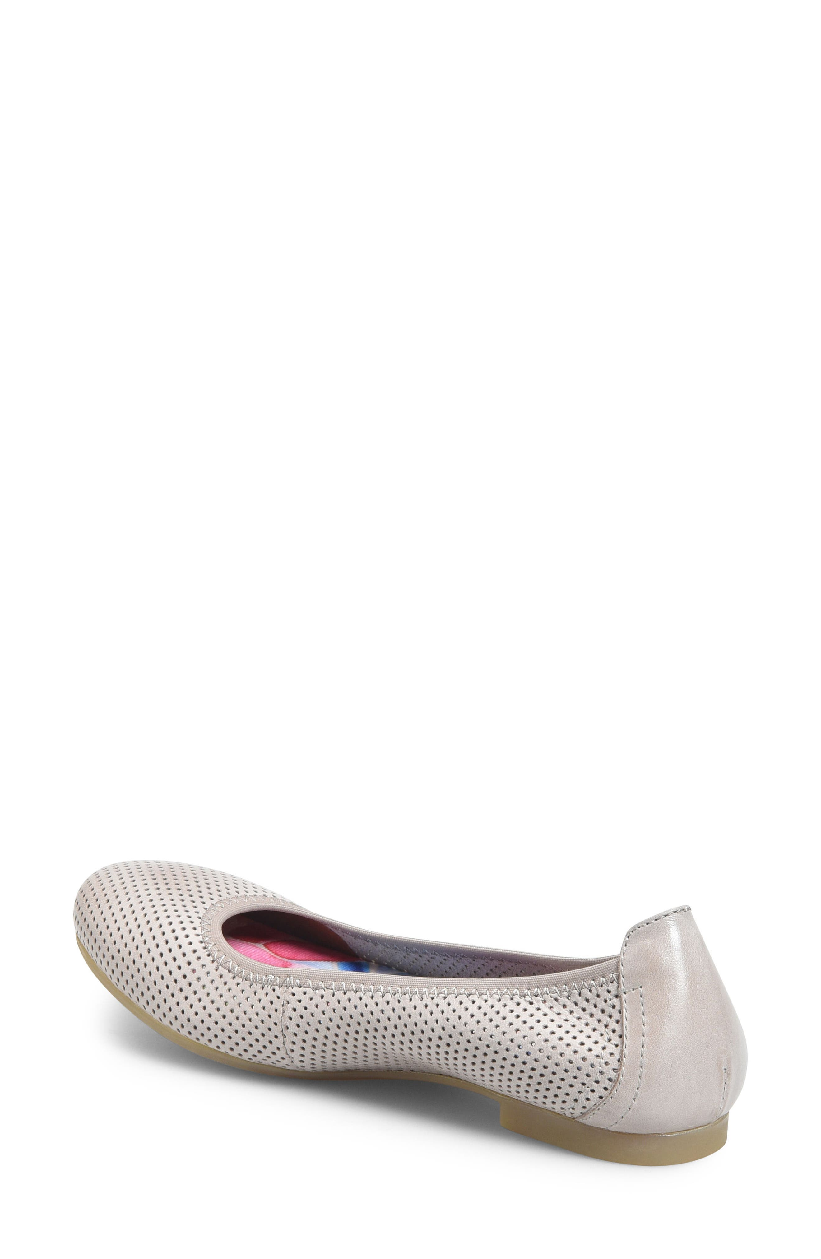 Julianne Perforated Flat,                             Alternate thumbnail 6, color,