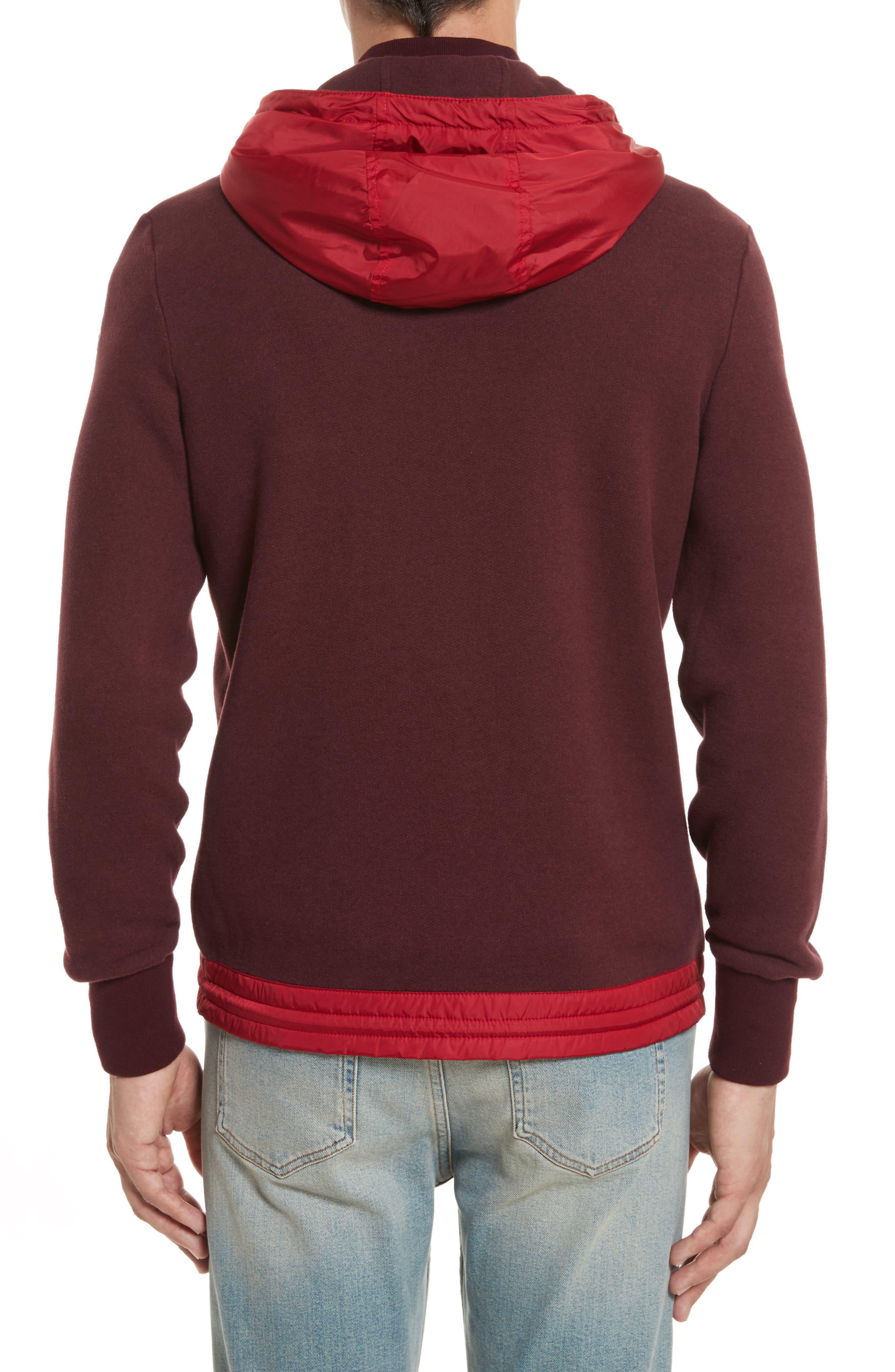 Maglia Knit Bomber with Removable Hood,                             Alternate thumbnail 2, color,