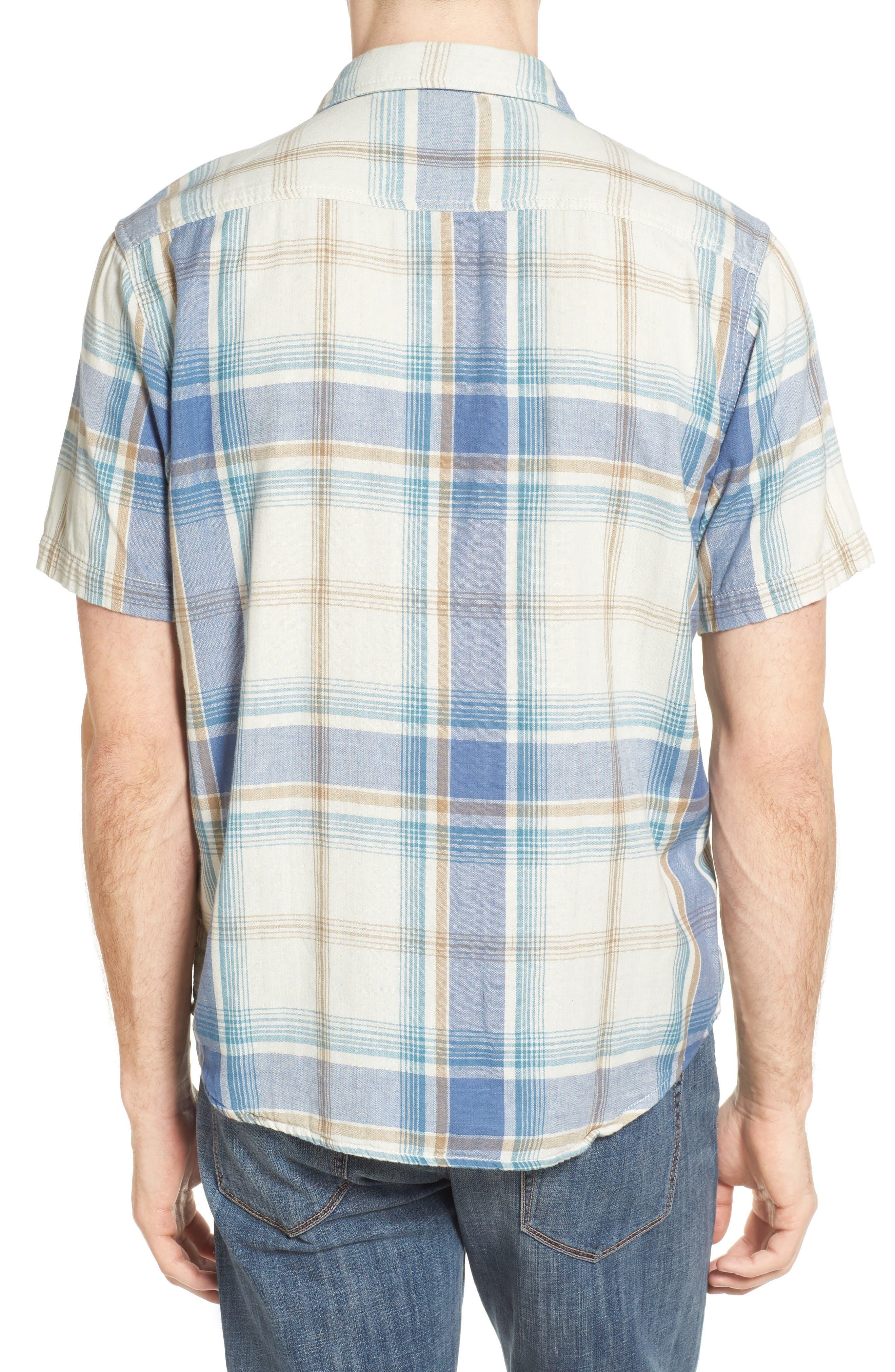 Maverick Plaid Sport Shirt,                             Alternate thumbnail 2, color,