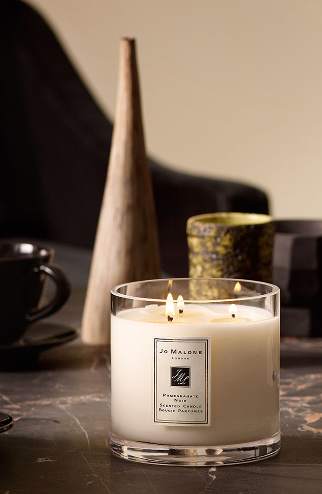 Jo Malone<sup>™</sup> 'Pomegranate Noir' Deluxe Candle,                             Alternate thumbnail 4, color,                             000