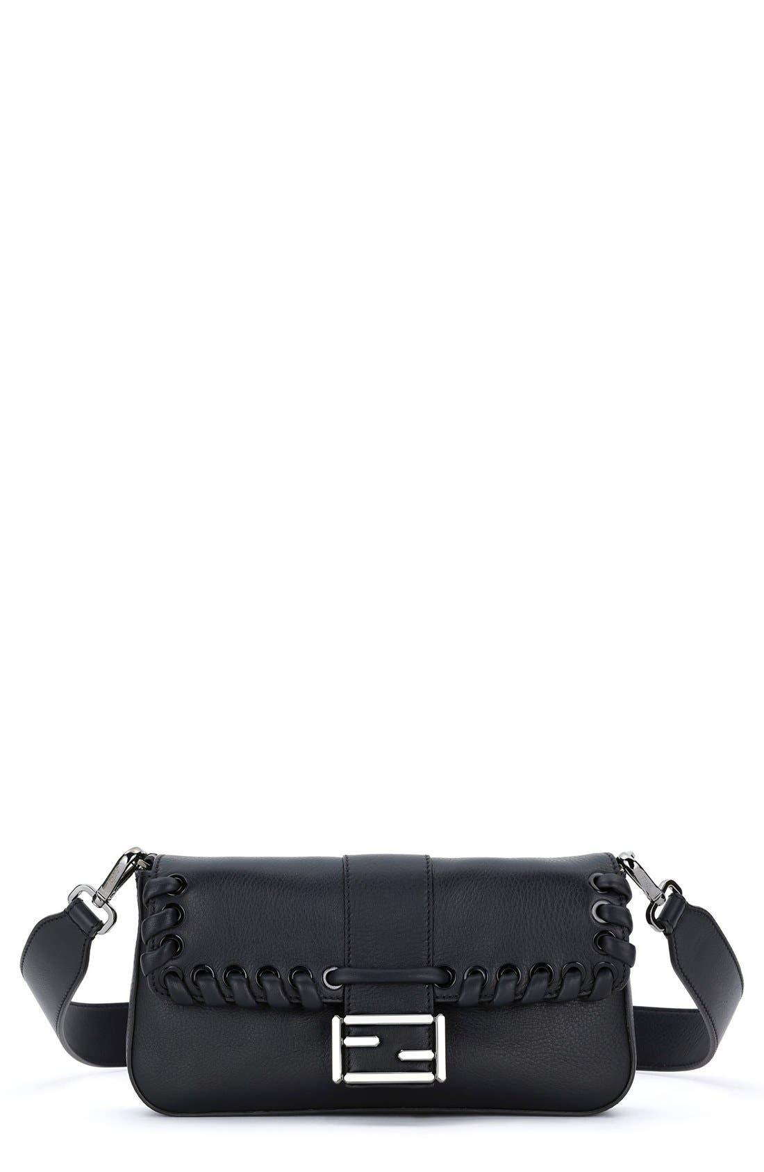 'Dolce' Calfskin Leather Baguette,                             Main thumbnail 2, color,
