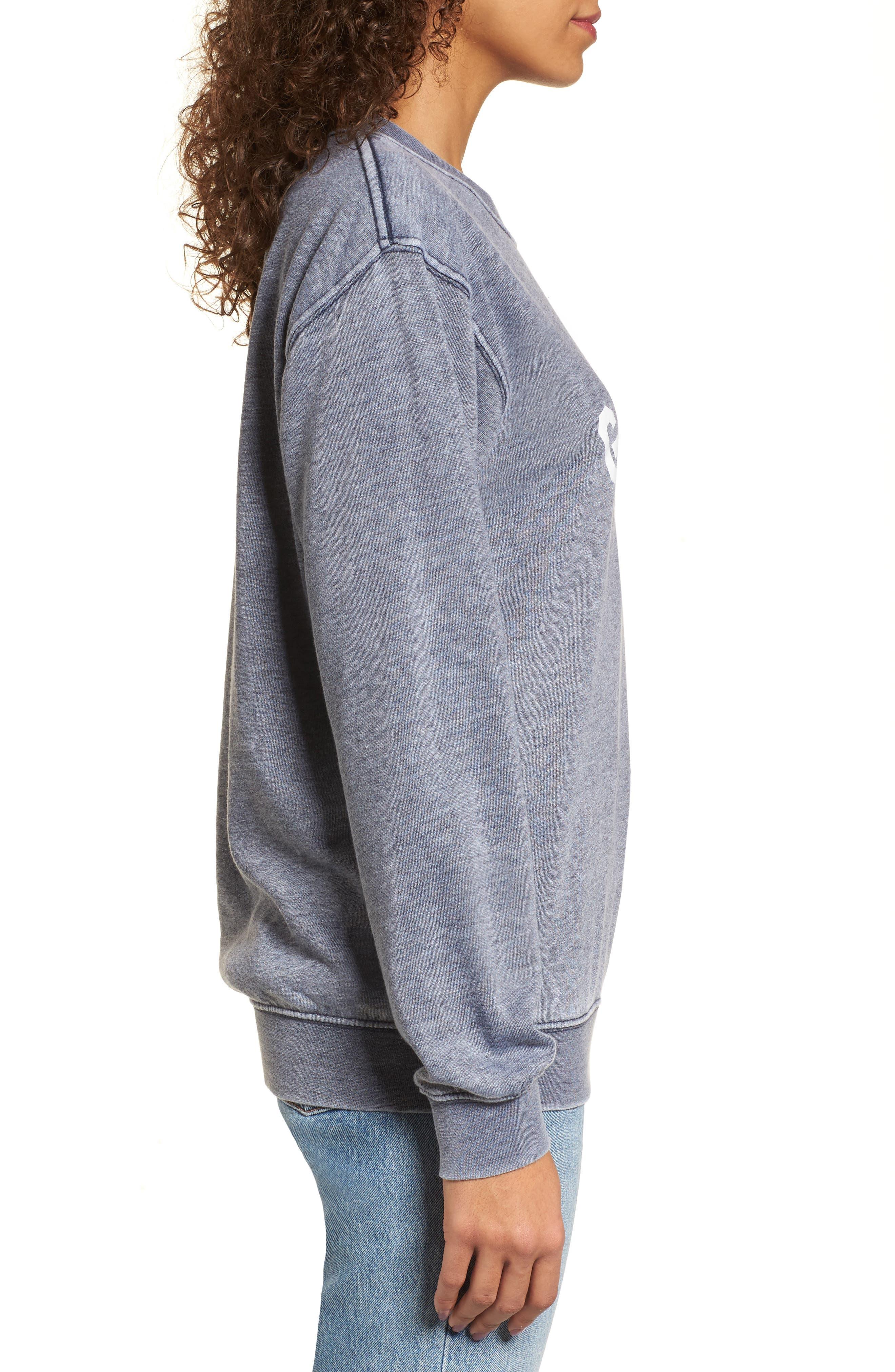 Good Vibes Burnout Sweatshirt,                             Alternate thumbnail 3, color,                             400